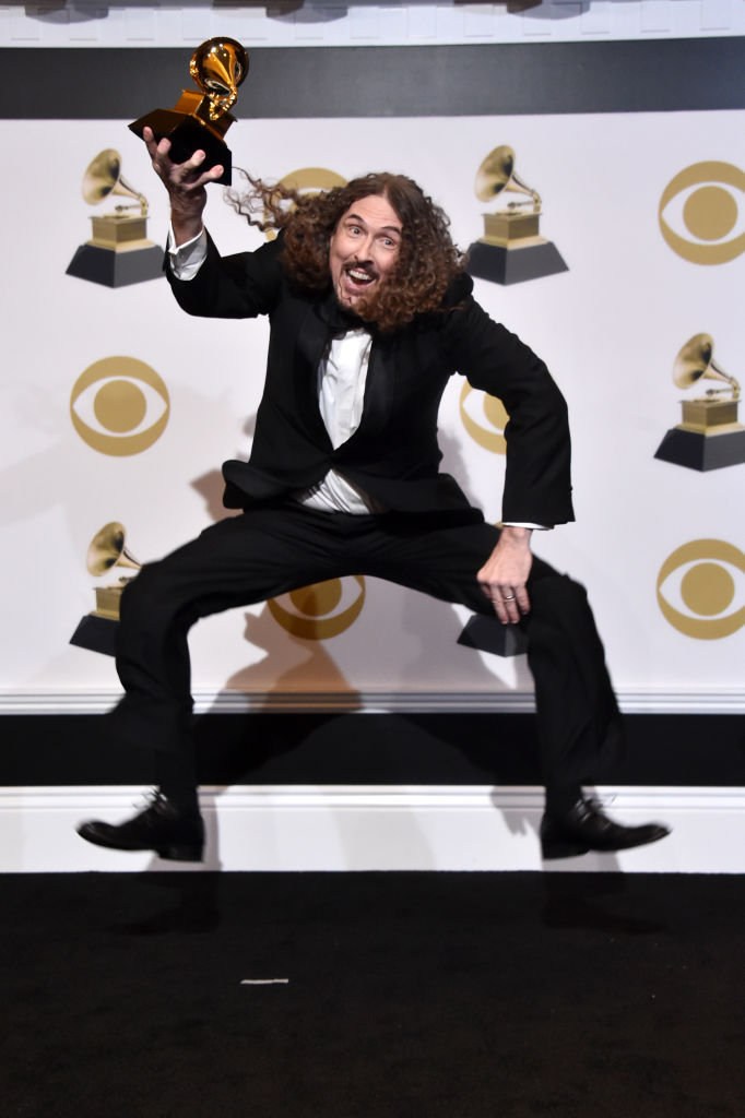 "LOS ANGELES, CA - FEBRUARY 10:  ""Weird Al"" Yankovic poses in the press room during the 61st Annual GRAMMY Awards at Staples Center on February 10, 2019 in Los Angeles, California.  (Photo by Alberto E. Rodriguez/Getty Images for The Recording Academy)"