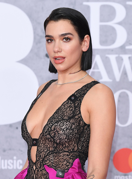 Dua Lipa attends The BRIT Awards 2019 held at The O2 Arena on February 20, 2019 in London. (Photo by: WireImage)