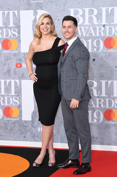 Gorka Marquez and Gemma Atkinson on the red carpet of The BRIT Awards 2019 held at The O2 Arena on February 20, 2019 in London. (Photo by: WireImage)
