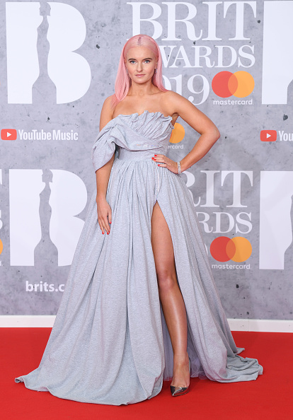 Grace Chatto on the red carpet of The BRIT Awards 2019 held at The O2 Arena on February 20, 2019 in London. (Photo by: WireImage)
