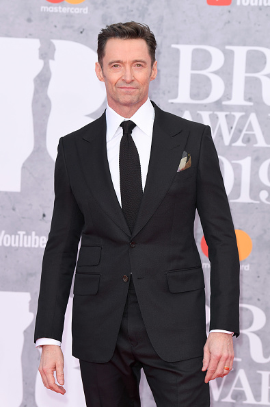 Hugh Jackman attends The BRIT Awards 2019 held at The O2 Arena on February 20, 2019 in London. (Photo by: WireImage)