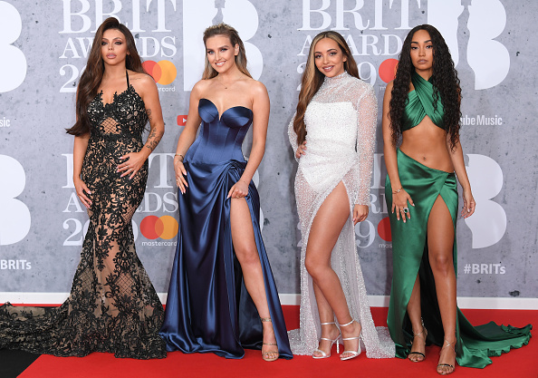 (L-R) Jesy Nelson, Perrie Edwards, Jade Thirlwall and Leigh-Anne Pinnock of Little Mix attend The BRIT Awards 2019 held at The O2 Arena on February 20, 2019 in London. (Photo by: WireImage)