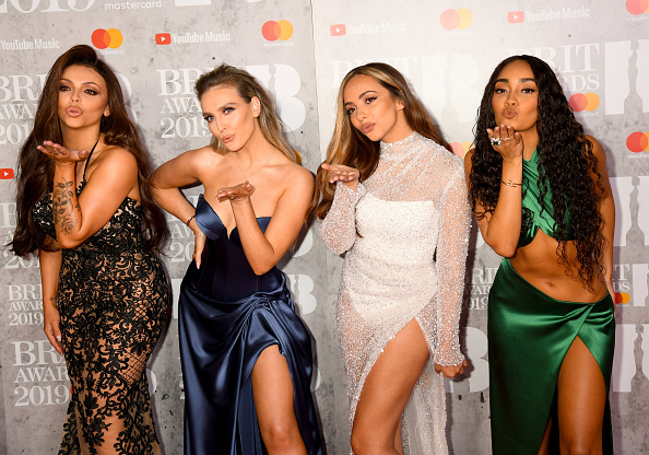 Jesy Nelson, Perrie Edwards, Jade Thirlwall and Leigh-Anne Pinnock of Little Mix on the red carpet of The BRIT Awards 2019 held at The O2 Arena on February 20, 2019 in London. (Photo by: WireImage)