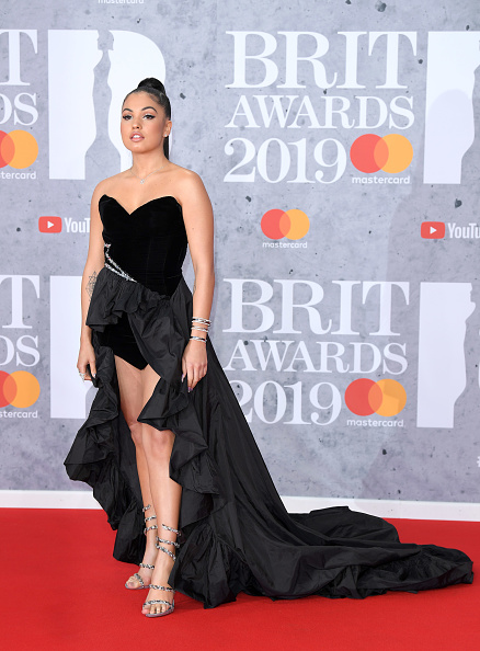 Mabel attends The BRIT Awards 2019 held at The O2 Arena on February 20, 2019 in London. (Photo by: WireImage)