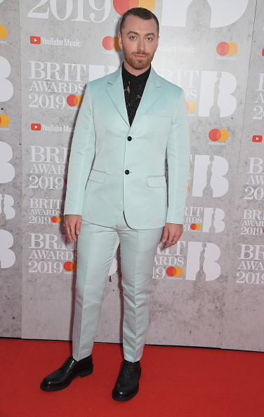 Sam Smith arrives at The BRIT Awards 2019 held at The O2 Arena on February 20, 2019 in London. (Photo by: Getty Images)