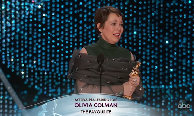 Olivia Colman The Favourite Oscars Speech