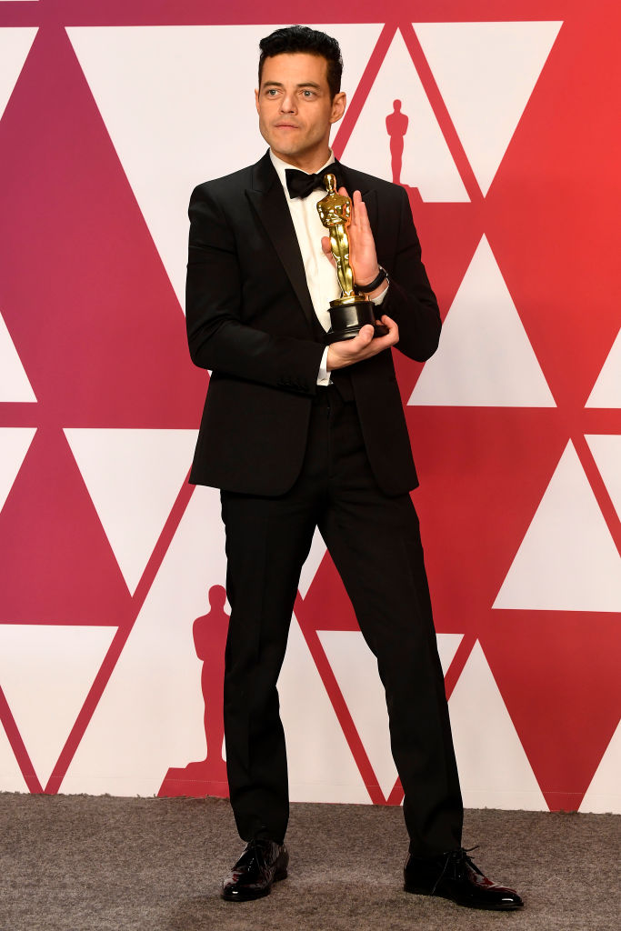 "HOLLYWOOD, CALIFORNIA - FEBRUARY 24: Rami Malek, winner of Best Actor for ""Bohemian Rhapsody,"" poses in the press room during the 91st Annual Academy Awards at Hollywood and Highland on February 24, 2019 in Hollywood, California. (Photo by Frazer Harrison/Getty Images)"