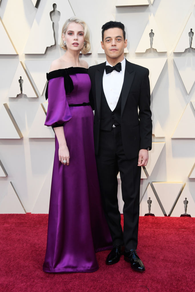 L-R) Lucy Boynton and Rami Malek attend the 91st Annual Academy Awards on February 24, 2019 in Hollywood, California. (Photo by Frazer Harrison/Getty Images)