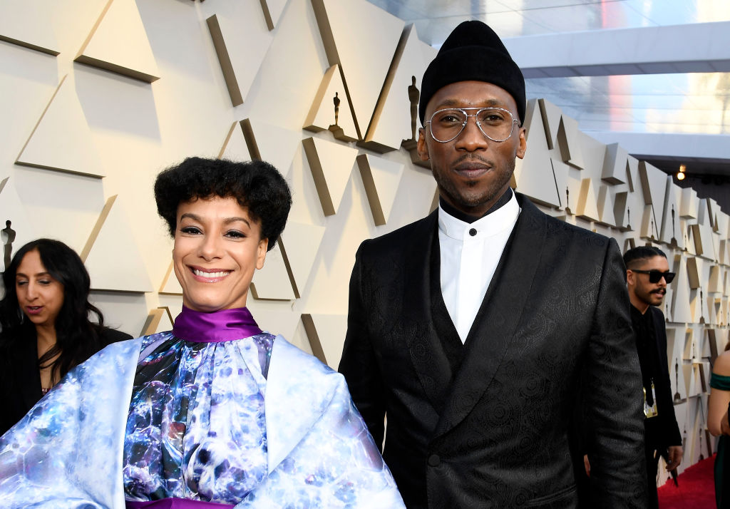 Mahershala Ali (R) and Amatus Sami-Karim attend the 91st Annual Academy Awards on February 24, 2019 in Hollywood, California. (Photo by Kevork Djansezian/Getty Images)