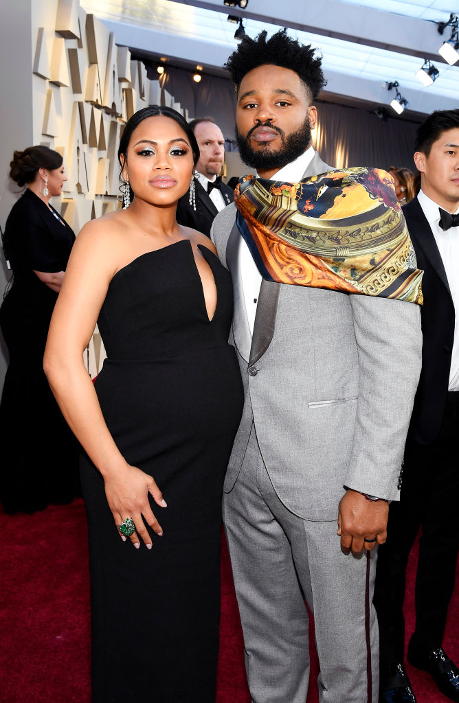 (L-R) Zinzi Evans and director Ryan Coogler attend the 91st Annual Academy Awards on February 24, 2019 in Hollywood, California. (Photo by Kevork Djansezian/Getty Images)