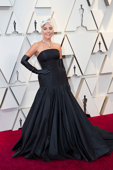 Lady Gaga at the Oscars 2019 Red Carpet (Photo by Rick Rowell via Getty Images)