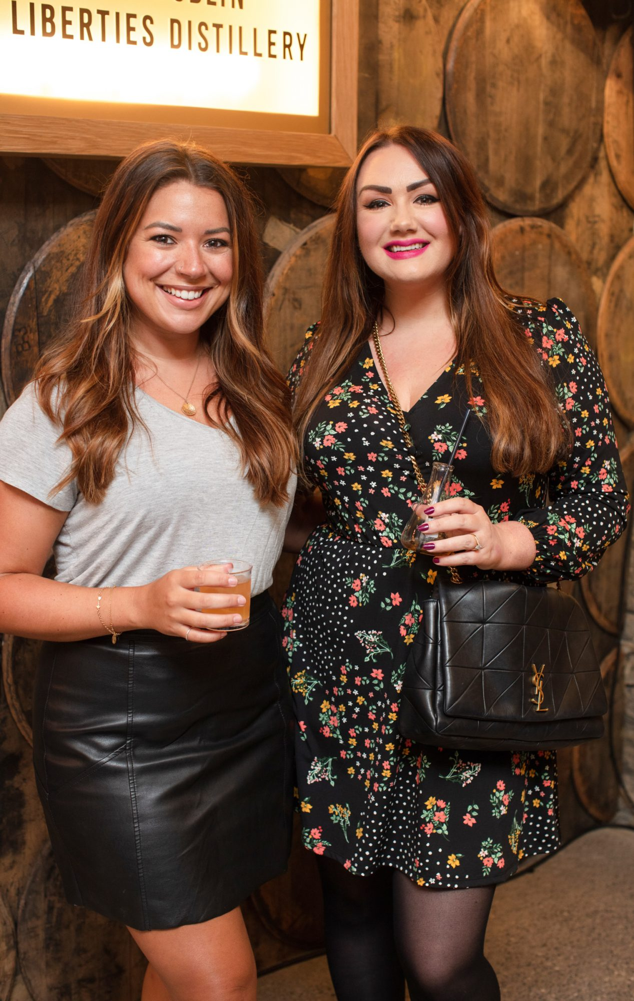 Nadia El Ferdaousi & Vicki Notaro pictured at the preview of The Dublin Liberties Distillery, the much anticipated new craft distillery in the heart of the Liberties. Photo: Anthony Woods.