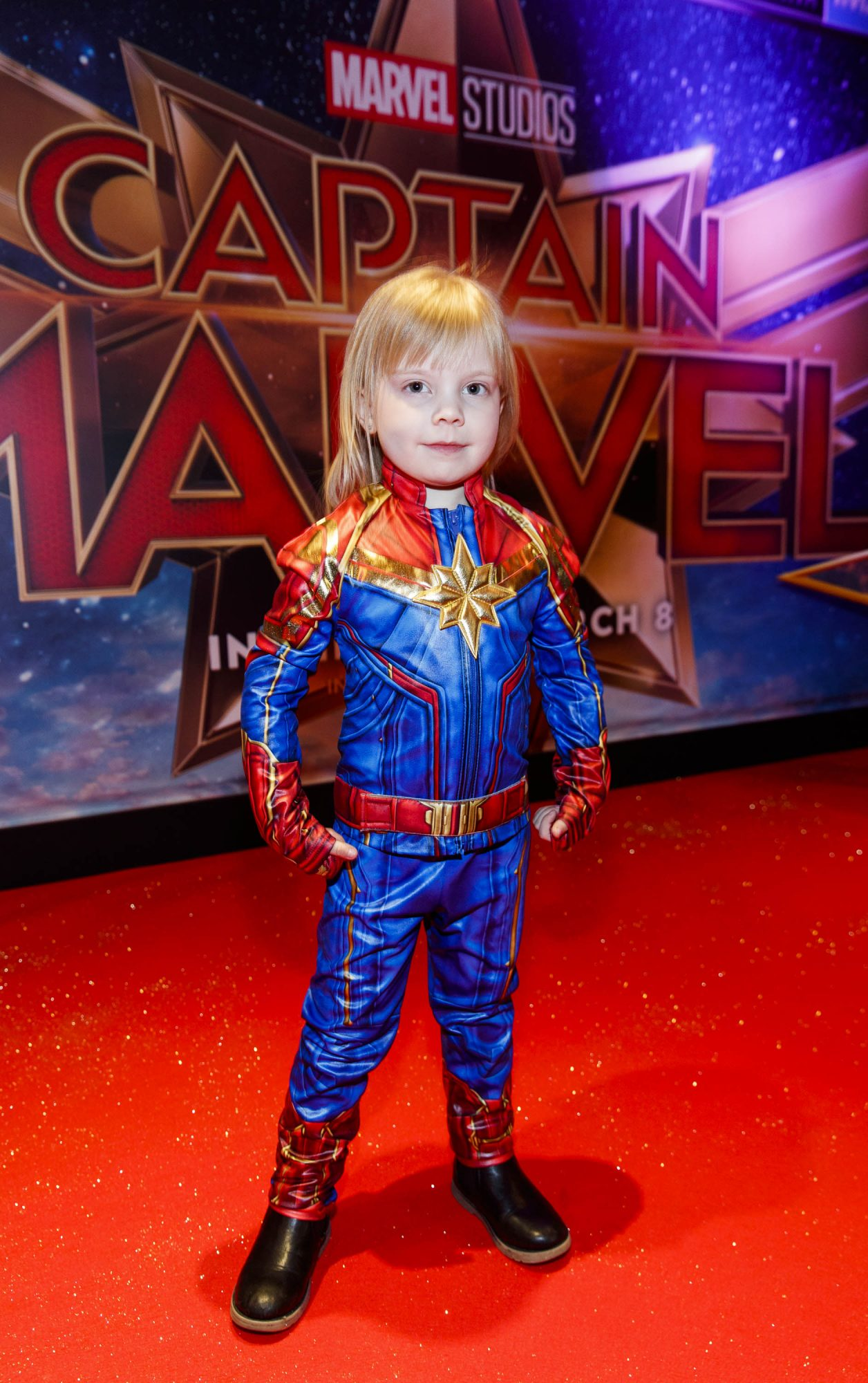 Lana O'Brien (4) pictured at a special preview screening of CAPTAIN MARVEL in Cineworld Dublin. Picture by: Andres Poveda