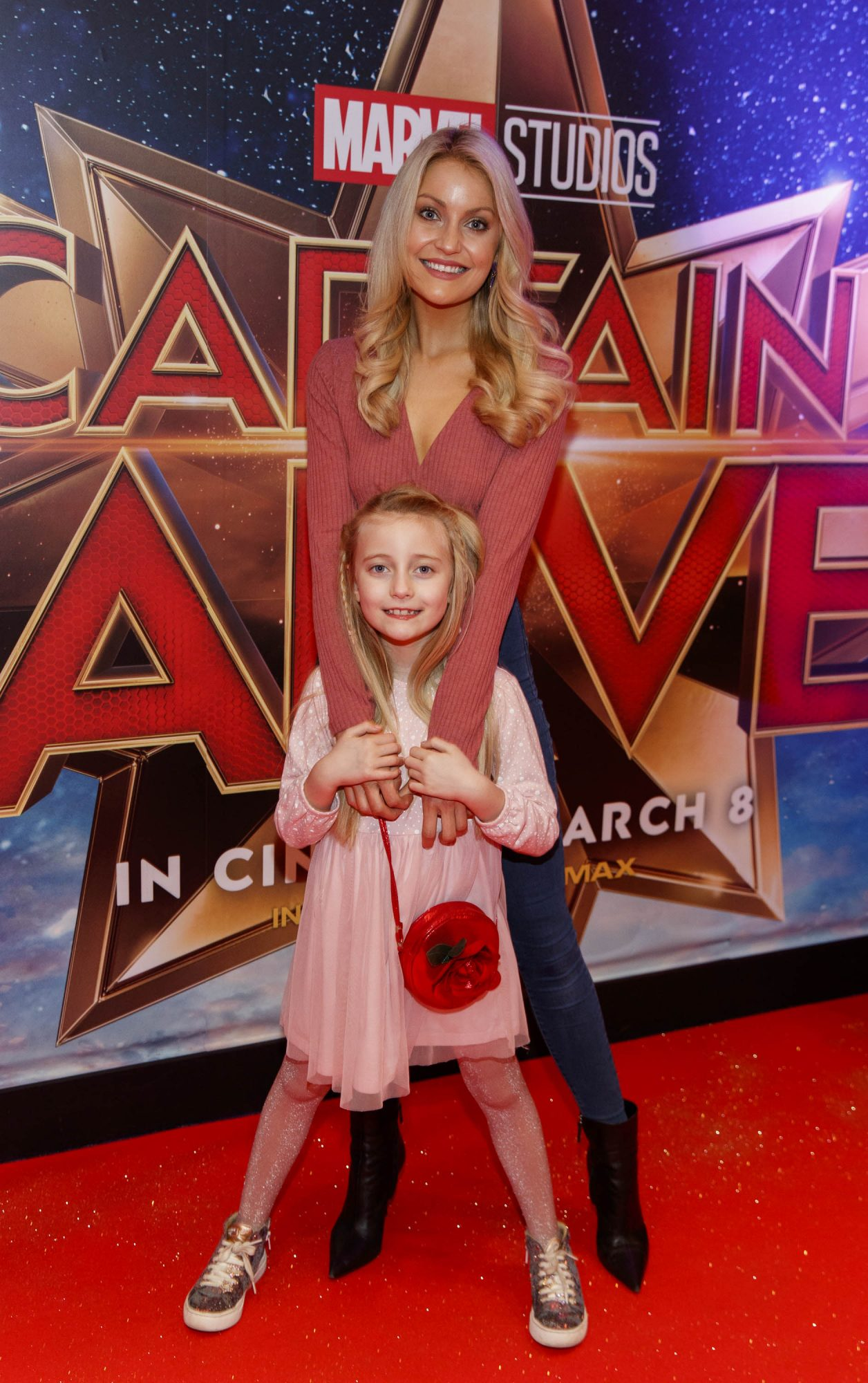 Kerri Nicole Blanc and daughter Kayla pictured at a special preview screening of CAPTAIN MARVEL in Cineworld Dublin. Picture by: Andres Poveda