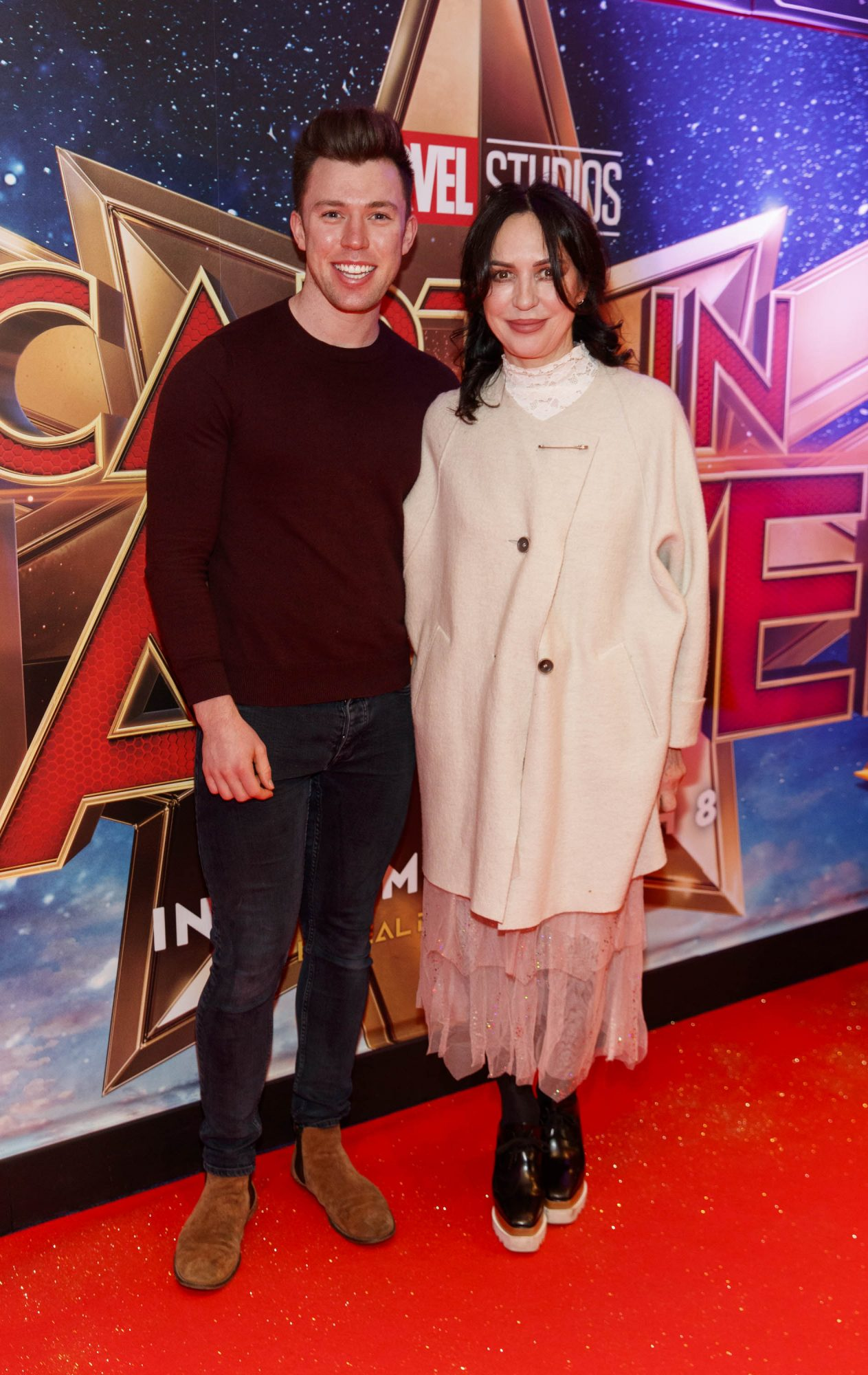 Elliot Ryan and Morah Ryan pictured at a special preview screening of CAPTAIN MARVEL in Cineworld Dublin. Picture by: Andres Poveda