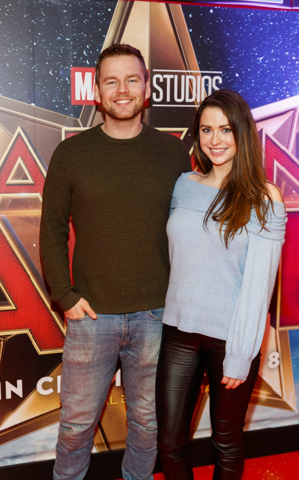 Conor Miller and Niamh Devereux pictured at a special preview screening of CAPTAIN MARVEL in Cineworld Dublin. Picture by: Andres Poveda