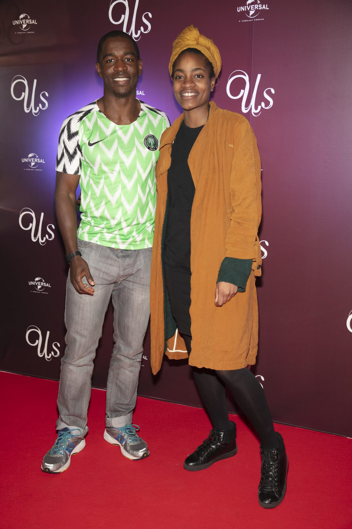 Chinedum Muotto & Lidia Porke Nao pictured at an exclusive first look of Jordan Peele's Us at The Stella Theatre, Ranelagh. Photo: Anthony Woods.