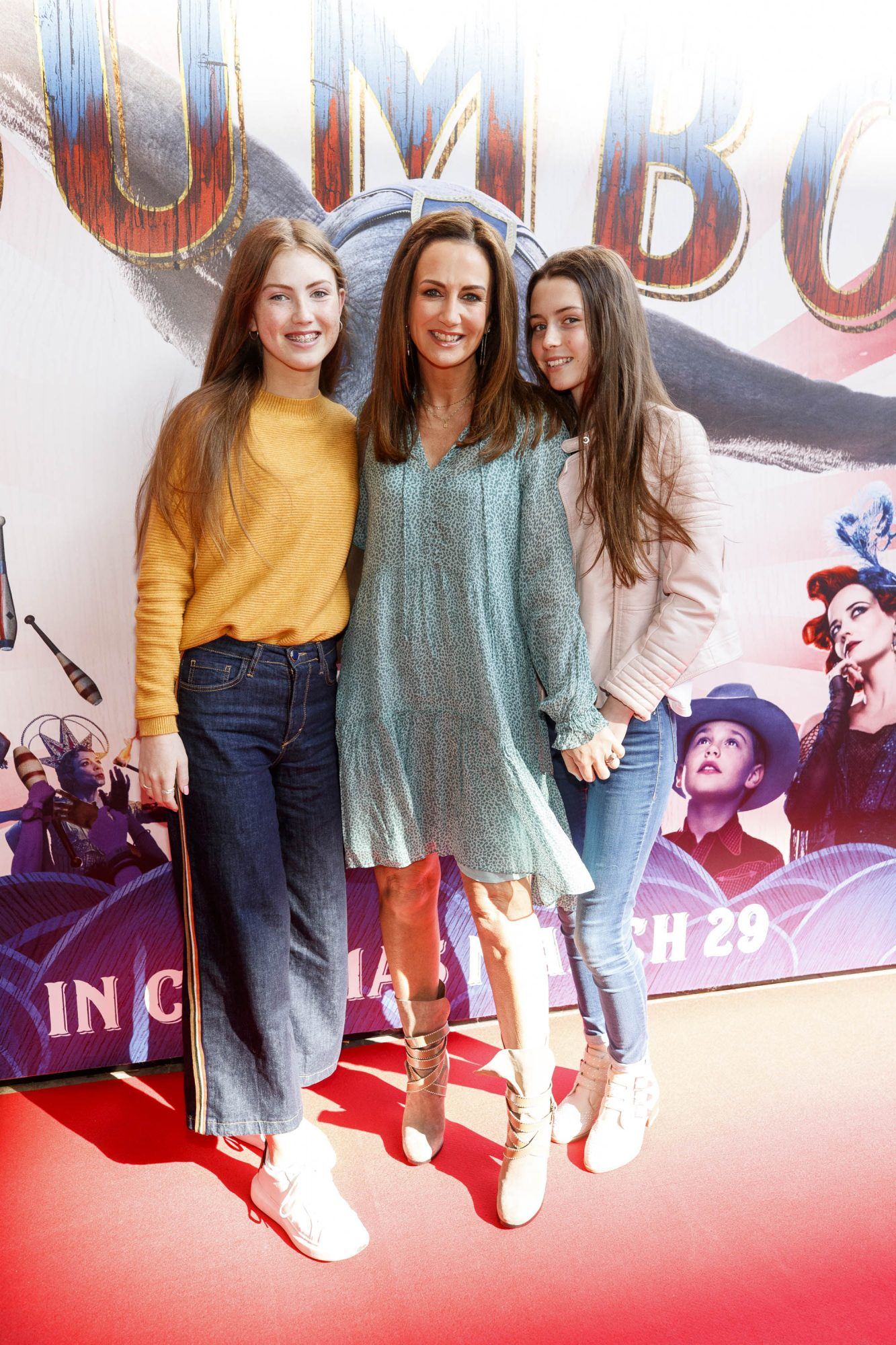 24/03/2019 Lorraine Keane with daughters Amelia Devlin and Romy Devlin pictured at the Irish Premiere screening of Disney's DUMBO in the Light House Cinema Dublin. Picture: Andres Poveda