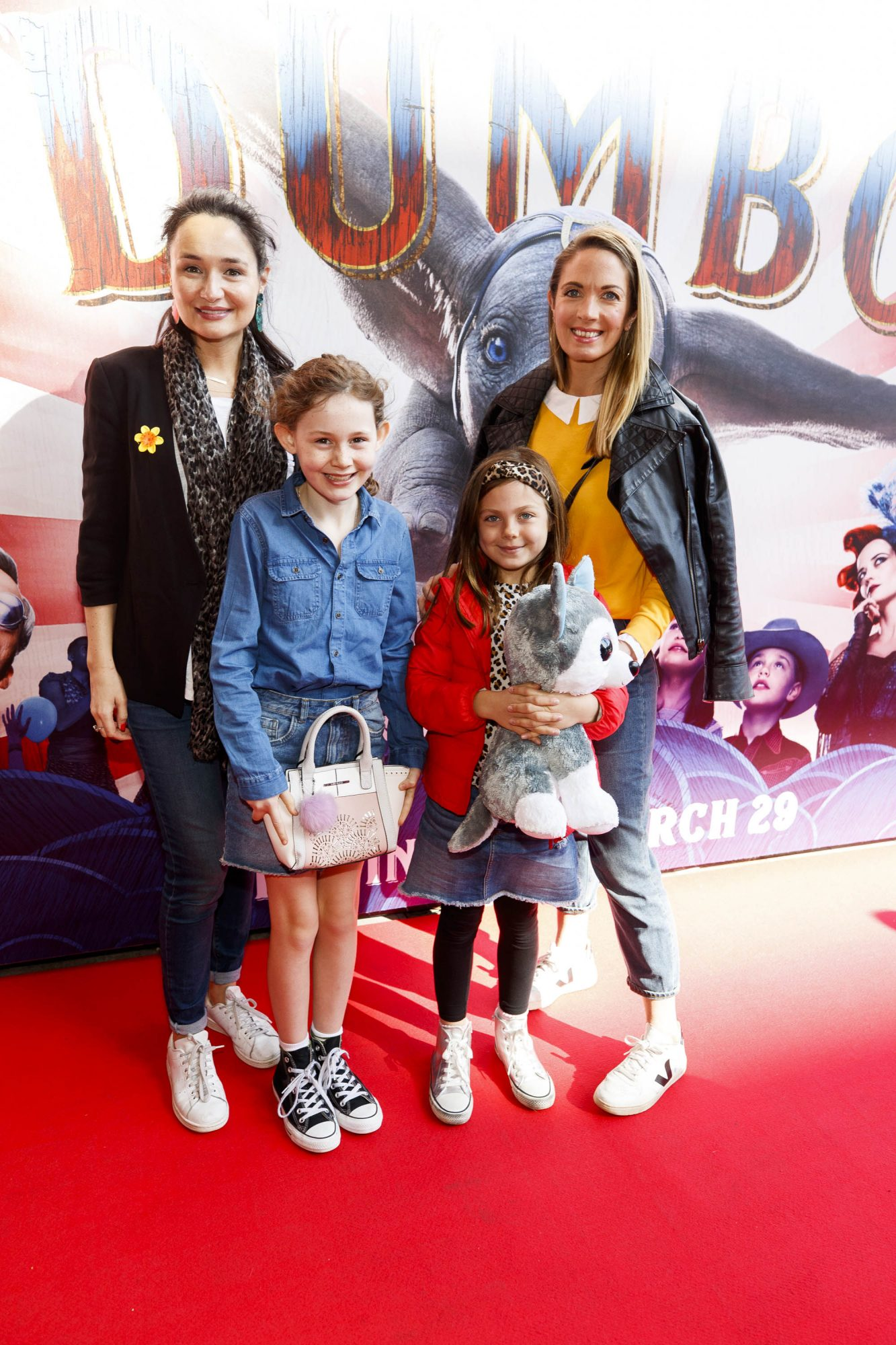 24/03/2019 Lucy O'Driscoll-Edge, Juliet O'Driscoll-Brereton with Fia and Cara Herriet pictured at the Irish Premiere screening of Disney's DUMBO in the Light House Cinema Dublin. Picture: Andres Poveda