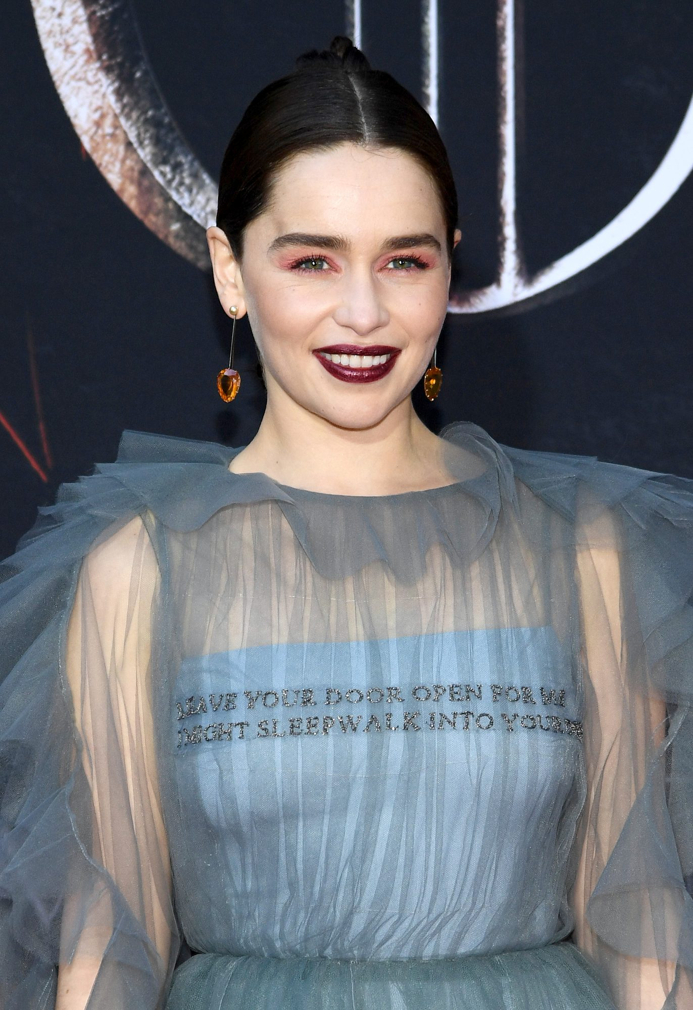 """NEW YORK, NEW YORK - APRIL 03: Emilia Clarke attends the """"Game Of Thrones"""" Season 8 Premiere on April 03, 2019 in New York City. (Photo by Dimitrios Kambouris/Getty Images)"""