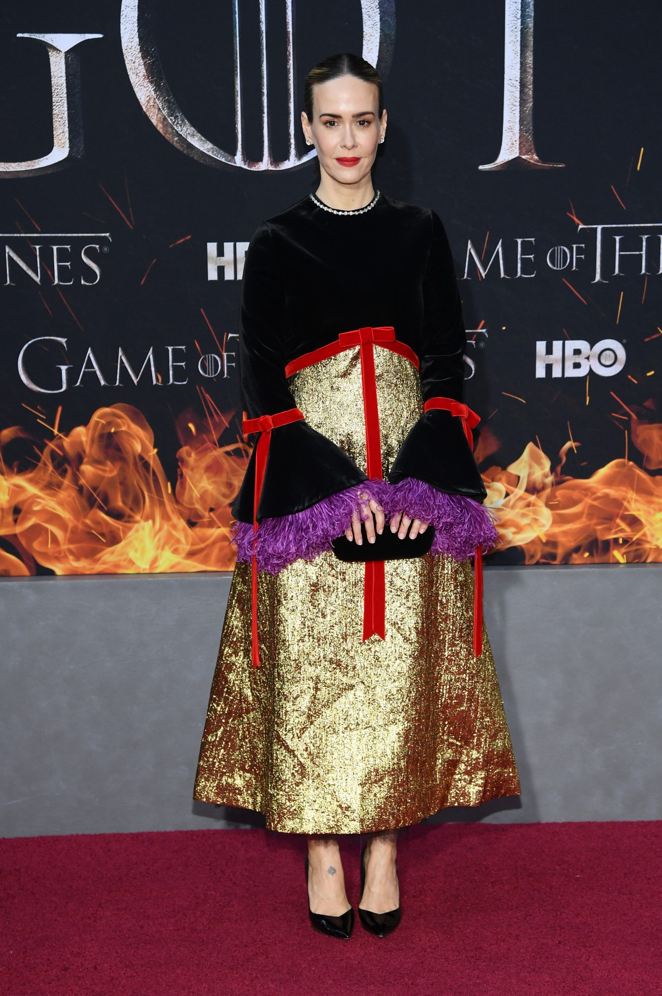"NEW YORK, NEW YORK - APRIL 03: Sarah Paulson attends the ""Game Of Thrones"" Season 8 Premiere on April 03, 2019 in New York City. (Photo by Dimitrios Kambouris/Getty Images)"