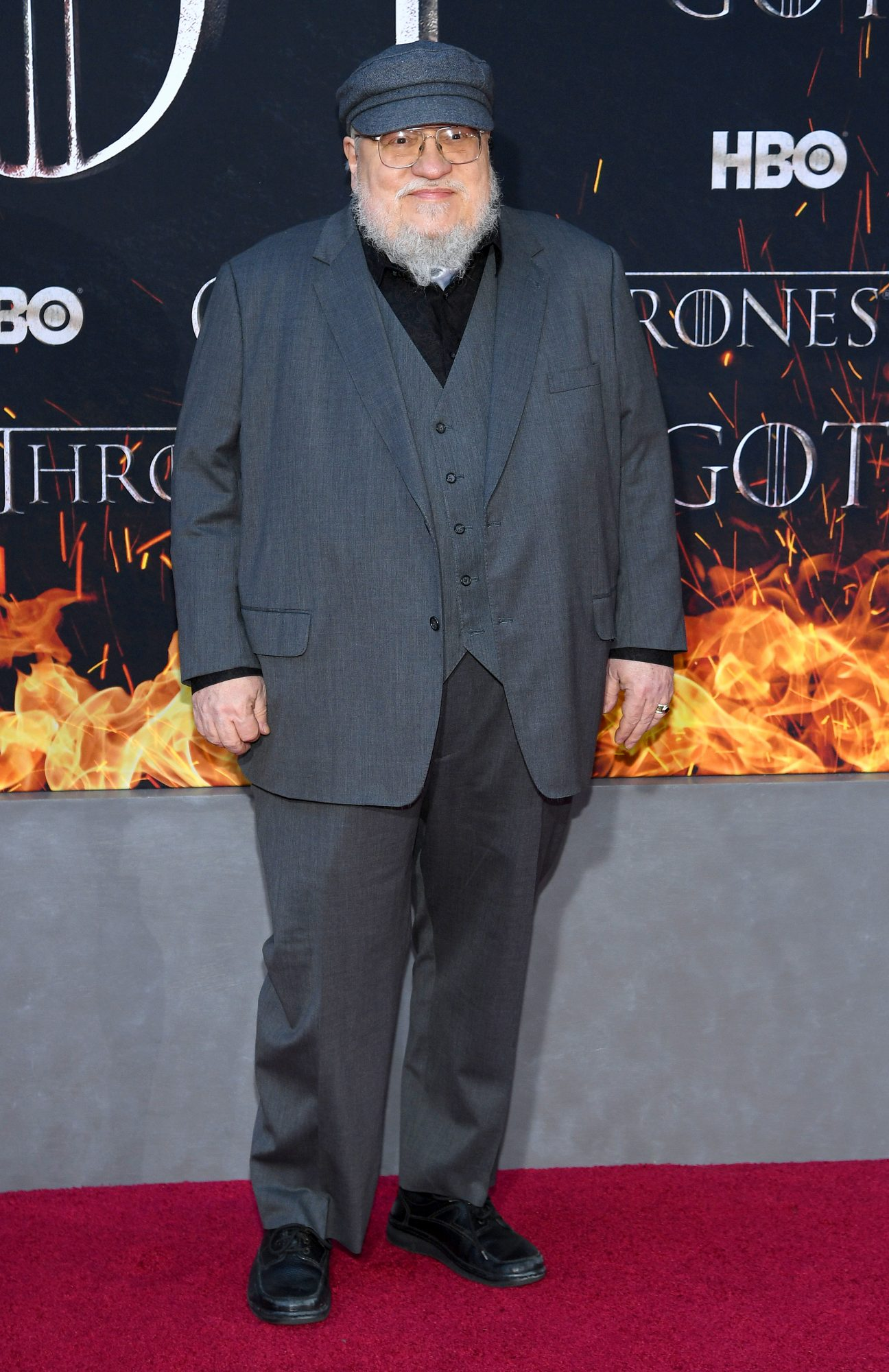 """NEW YORK, NEW YORK - APRIL 03: George R. R. Martin attends the """"Game Of Thrones"""" Season 8 Premiere on April 03, 2019 in New York City. (Photo by Dimitrios Kambouris/Getty Images)"""