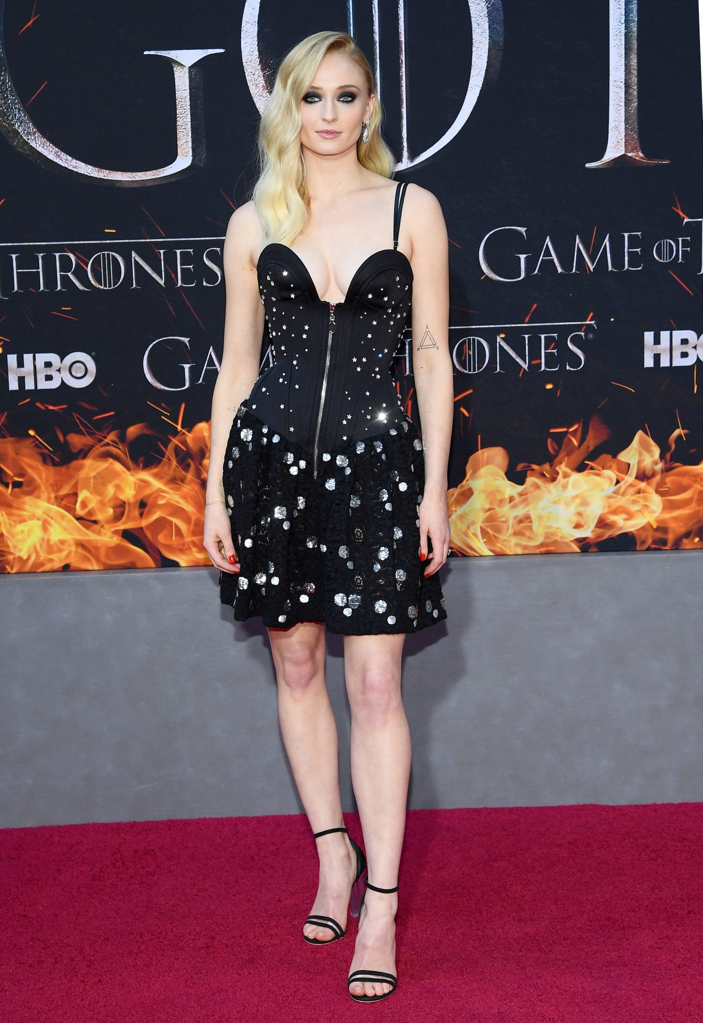 """NEW YORK, NEW YORK - APRIL 03: Sophie Turner attends the """"Game Of Thrones"""" Season 8 Premiere on April 03, 2019 in New York City. (Photo by Dimitrios Kambouris/Getty Images)"""