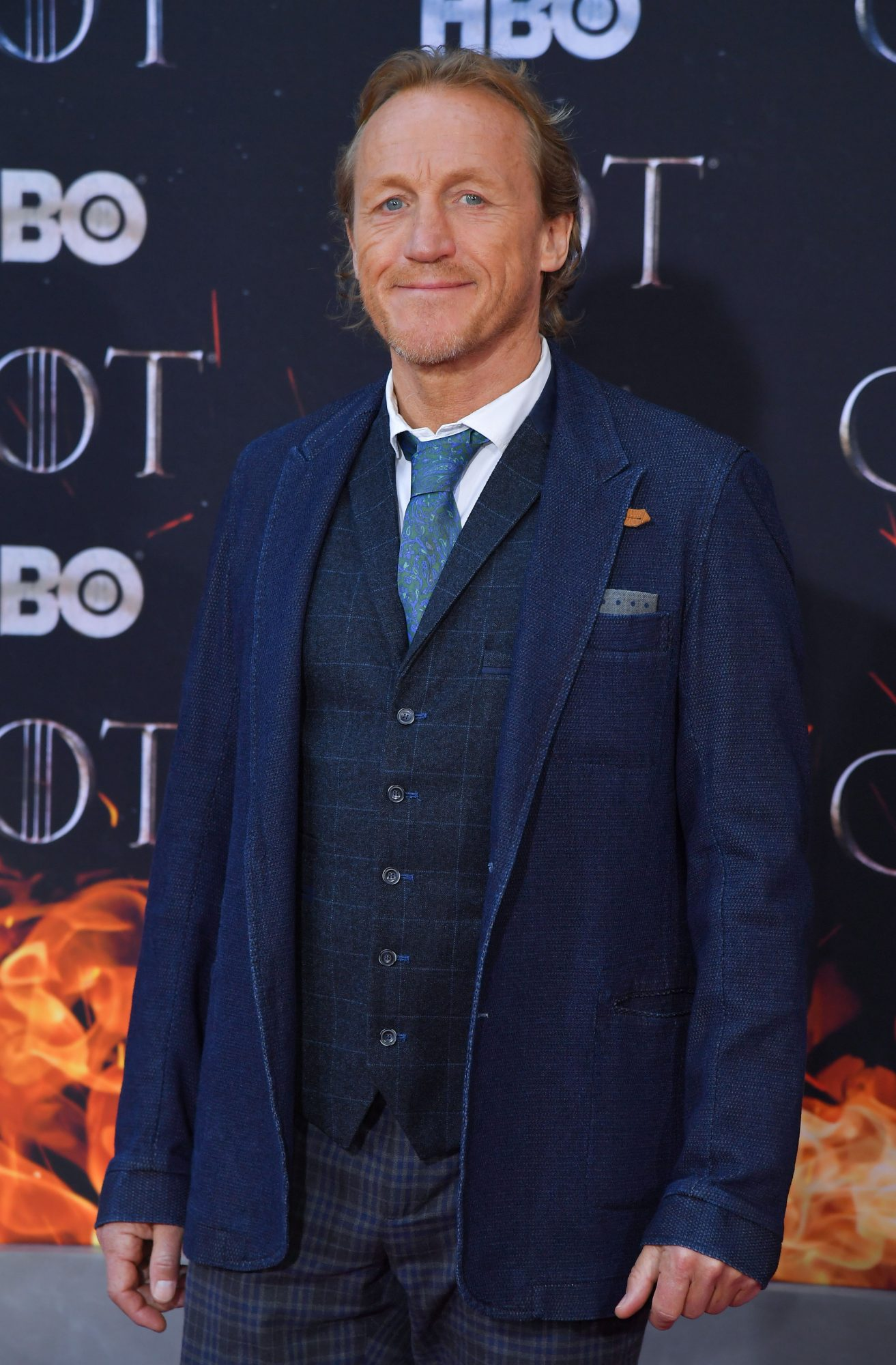"British actor Jerome Flynn arrives for the ""Game of Thrones"" eighth and final season at Radio City Music Hall on April 3, 2019 in New York city. (Photo by Angela Weiss / AFP)        (Photo credit should read ANGELA WEISS/AFP/Getty Images)"