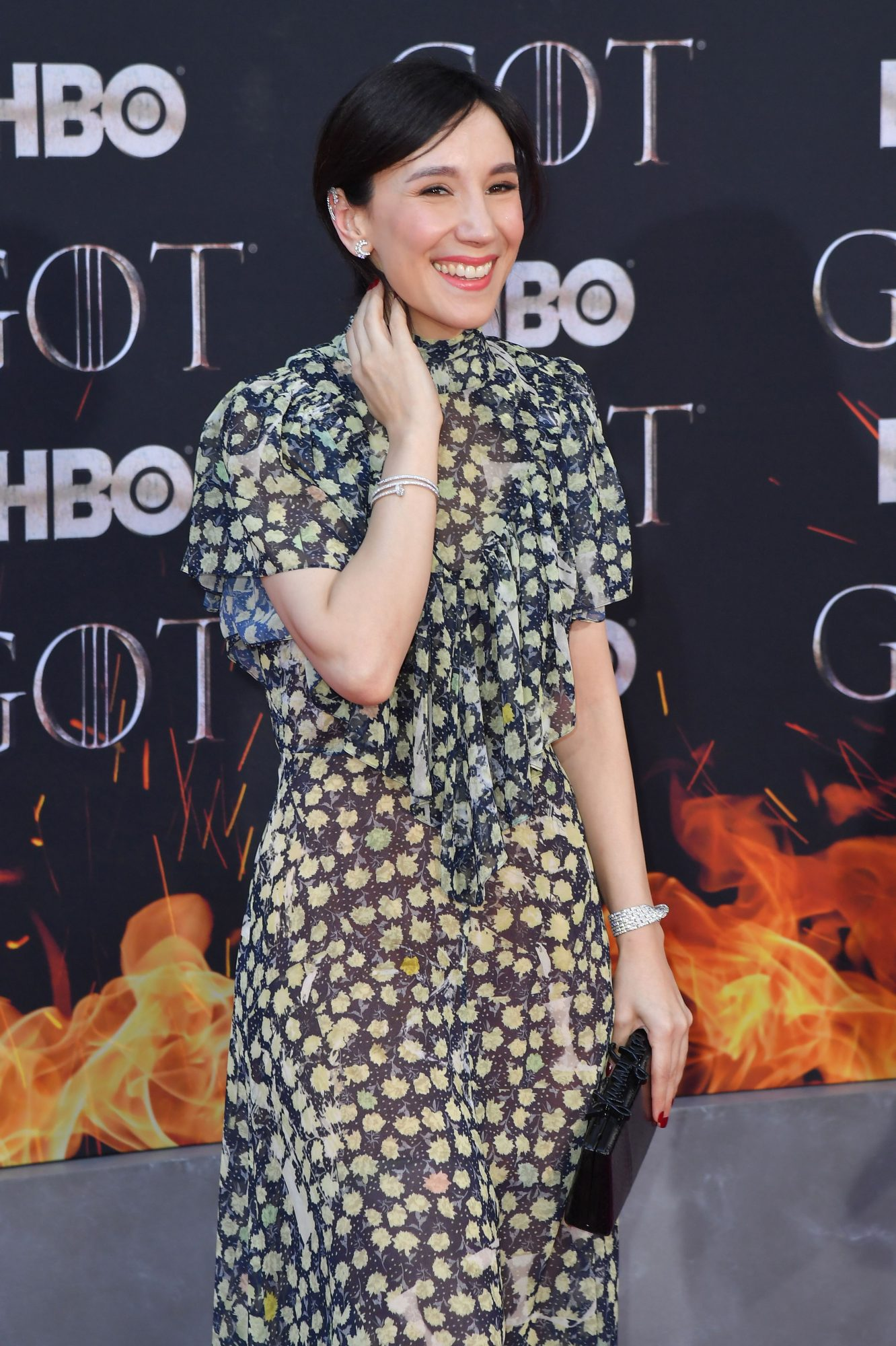 "German actress Sibel Kekilli arrives for the ""Game of Thrones"" eighth and final season at Radio City Music Hall on April 3, 2019 in New York city. (Photo by Angela Weiss / AFP)        (Photo credit should read ANGELA WEISS/AFP/Getty Images)"