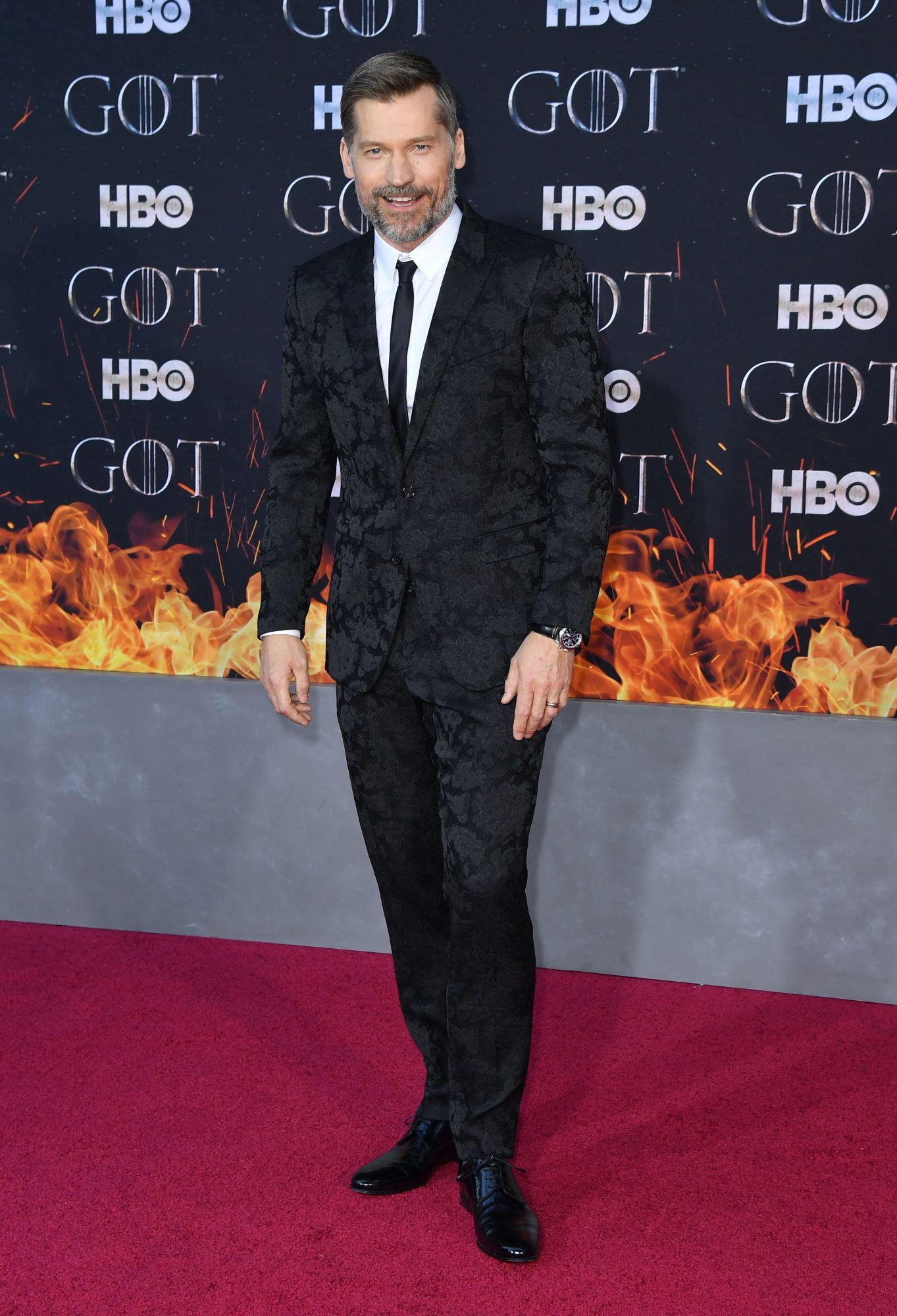 """Danish actor Nikolaj Coster-Waldau arrives for the """"Game of Thrones"""" eighth and final season premiere at Radio City Music Hall on April 3, 2019 in New York city. (Photo by Angela Weiss / AFP)        (Photo credit should read ANGELA WEISS/AFP/Getty Images)"""