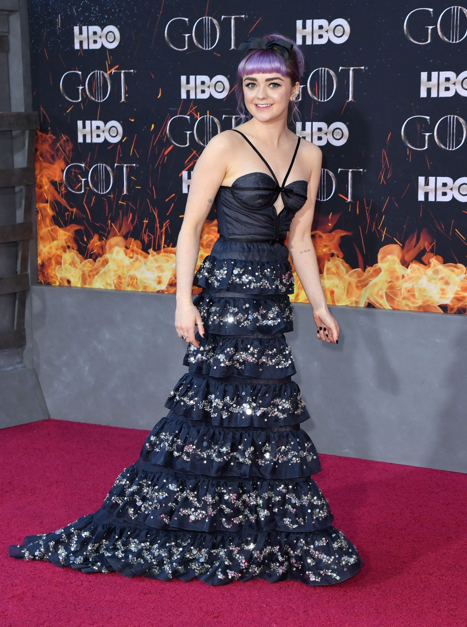 """British actress Maisie Williams arrives for the """"Game of Thrones"""" eighth and final season premiere at Radio City Music Hall on April 3, 2019 in New York city. (Photo by Angela Weiss / AFP)        (Photo credit should read ANGELA WEISS/AFP/Getty Images)"""