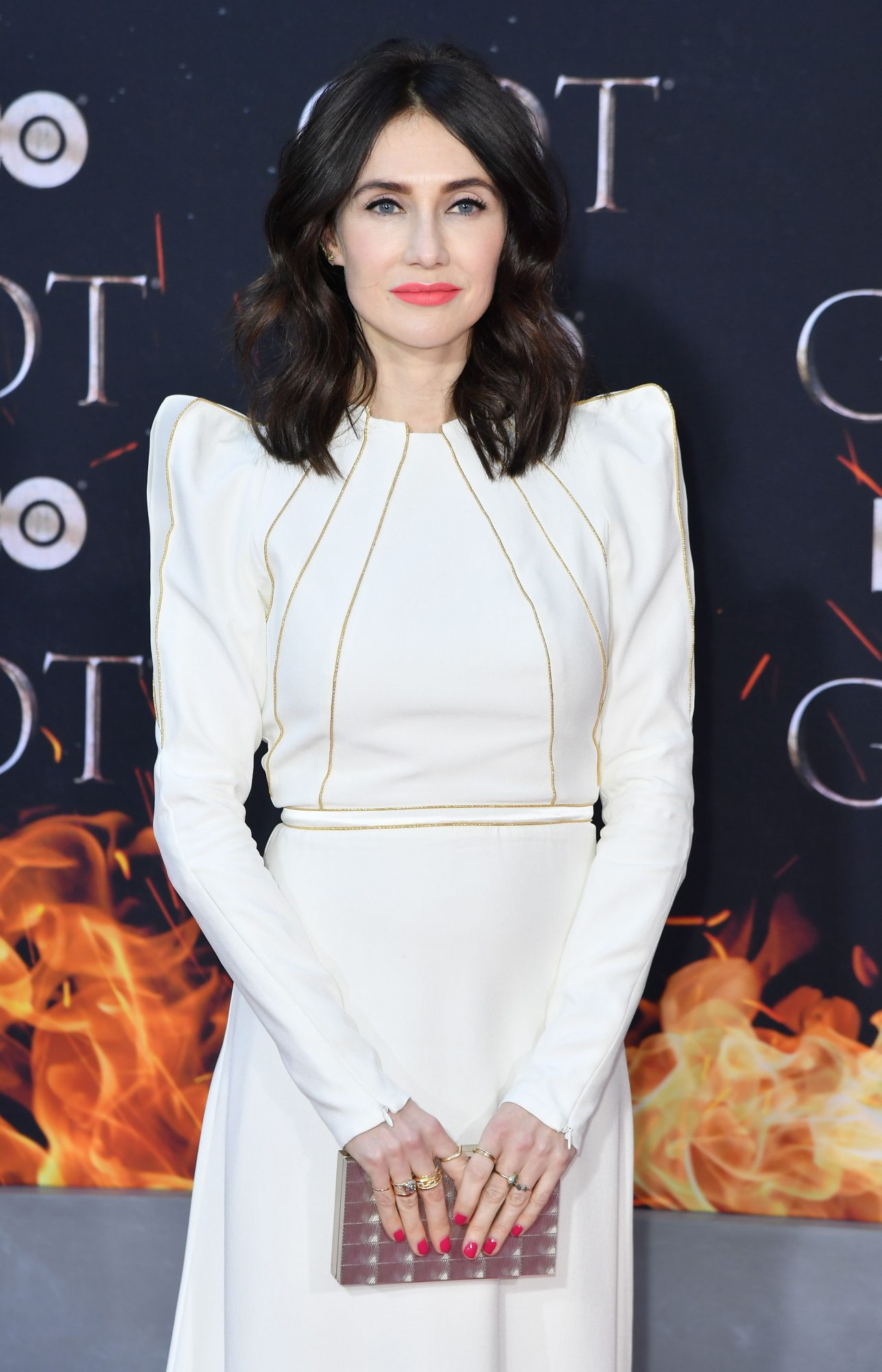 """Dutch actress Carice van Houten arrives for the """"Game of Thrones"""" eighth and final season premiere at Radio City Music Hall on April 3, 2019 in New York city. (Photo by Angela Weiss / AFP)        (Photo credit should read ANGELA WEISS/AFP/Getty Images)"""