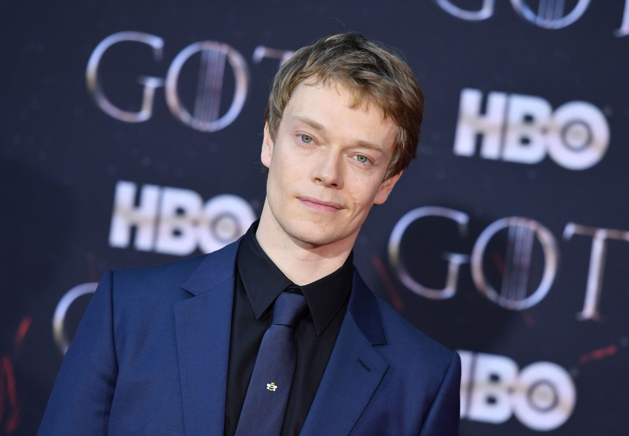 "British actor Alfie Allen arrives for the ""Game of Thrones"" eighth and final season premiere at Radio City Music Hall on April 3, 2019 in New York city. (Photo by Angela Weiss / AFP)        (Photo credit should read ANGELA WEISS/AFP/Getty Images)"