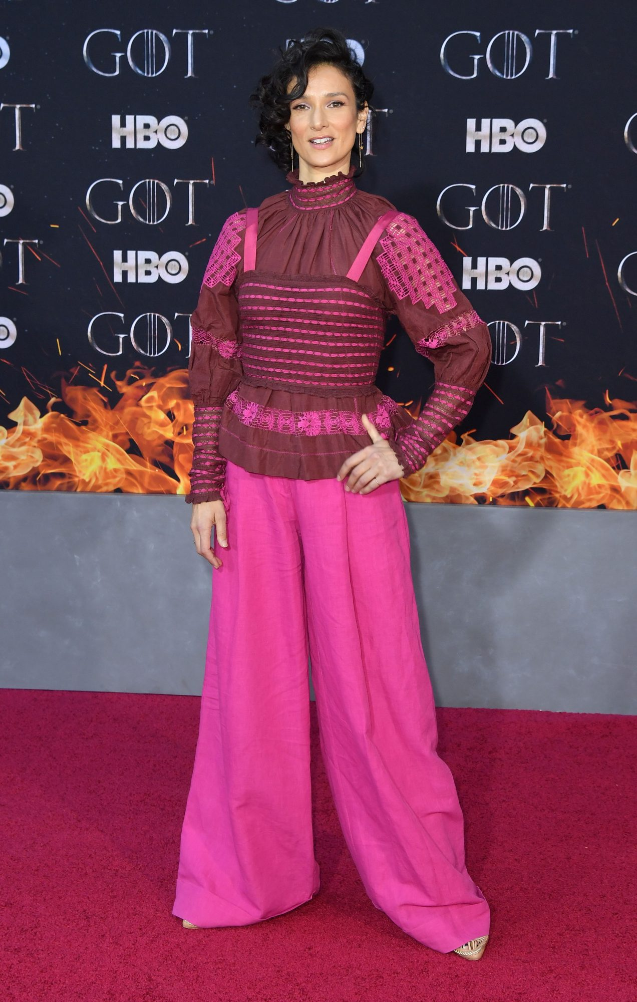 "British actress Indira Varma arrives for the ""Game of Thrones"" eighth and final season premiere at Radio City Music Hall on April 3, 2019 in New York city. (Photo by Angela Weiss / AFP)        (Photo credit should read ANGELA WEISS/AFP/Getty Images)"