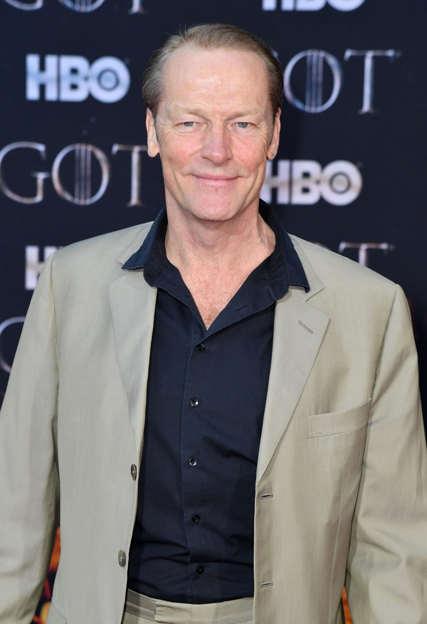 "Scottish actor Iain Glen arrives for the ""Game of Thrones"" eighth and final season premiere at Radio City Music Hall on April 3, 2019 in New York city. (Photo by Angela Weiss / AFP)        (Photo credit should read ANGELA WEISS/AFP/Getty Images)"