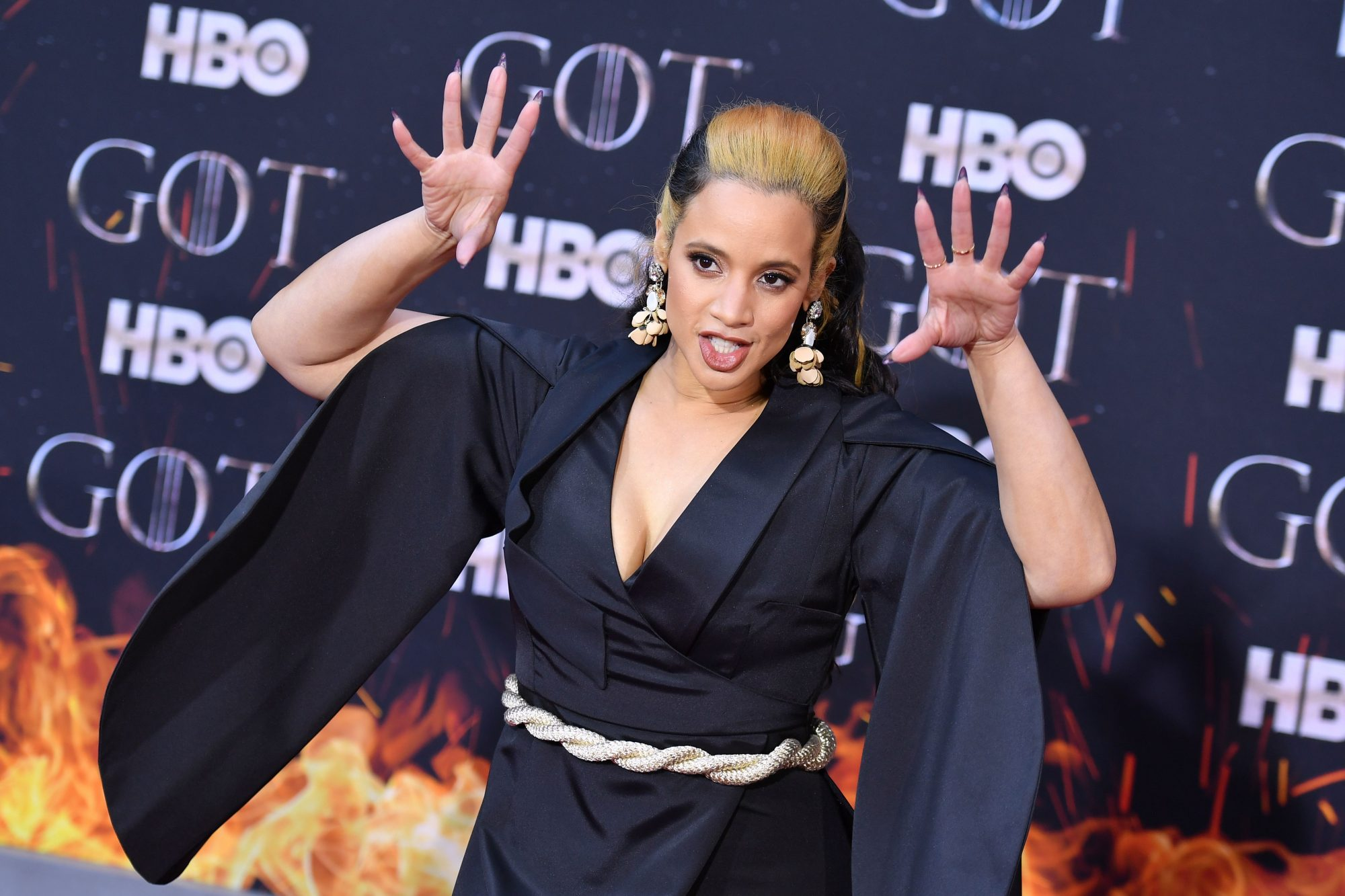 "US-Dominican actress Dascha Polanco arrives for the ""Game of Thrones"" eighth and final season premiere at Radio City Music Hall on April 3, 2019 in New York city. (Photo by Angela Weiss / AFP)        (Photo credit should read ANGELA WEISS/AFP/Getty Images)"