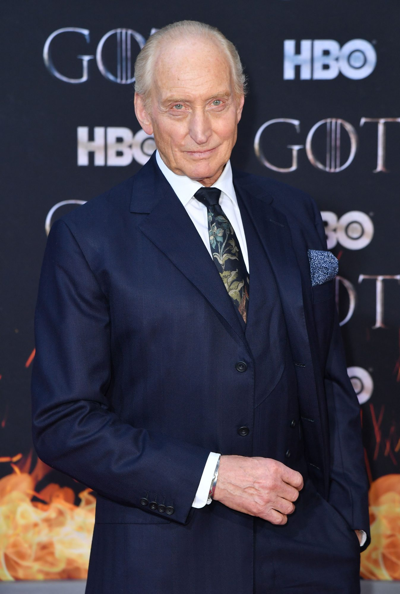"British actor Charles Dance arrives for the ""Game of Thrones"" eighth and final season premiere at Radio City Music Hall on April 3, 2019 in New York city. (Photo by Angela Weiss / AFP)        (Photo credit should read ANGELA WEISS/AFP/Getty Images)"