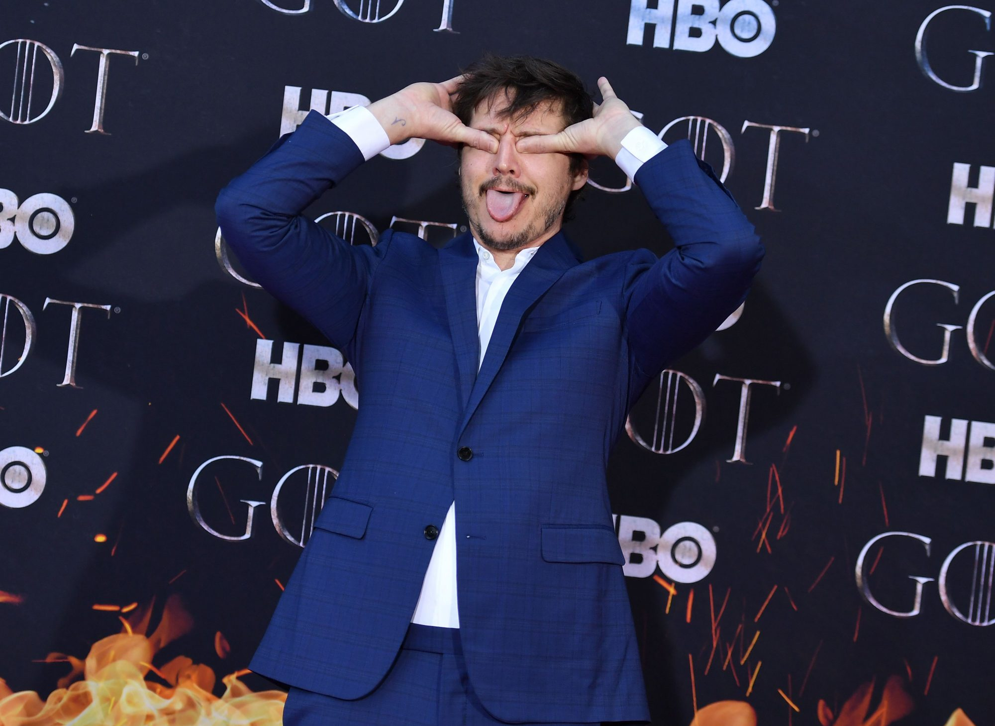 """Chilean actor Pedro Pascal arrives for the """"Game of Thrones"""" eighth and final season premiere at Radio City Music Hall on April 3, 2019 in New York city. (Photo by Angela Weiss / AFP)        (Photo credit should read ANGELA WEISS/AFP/Getty Images)"""