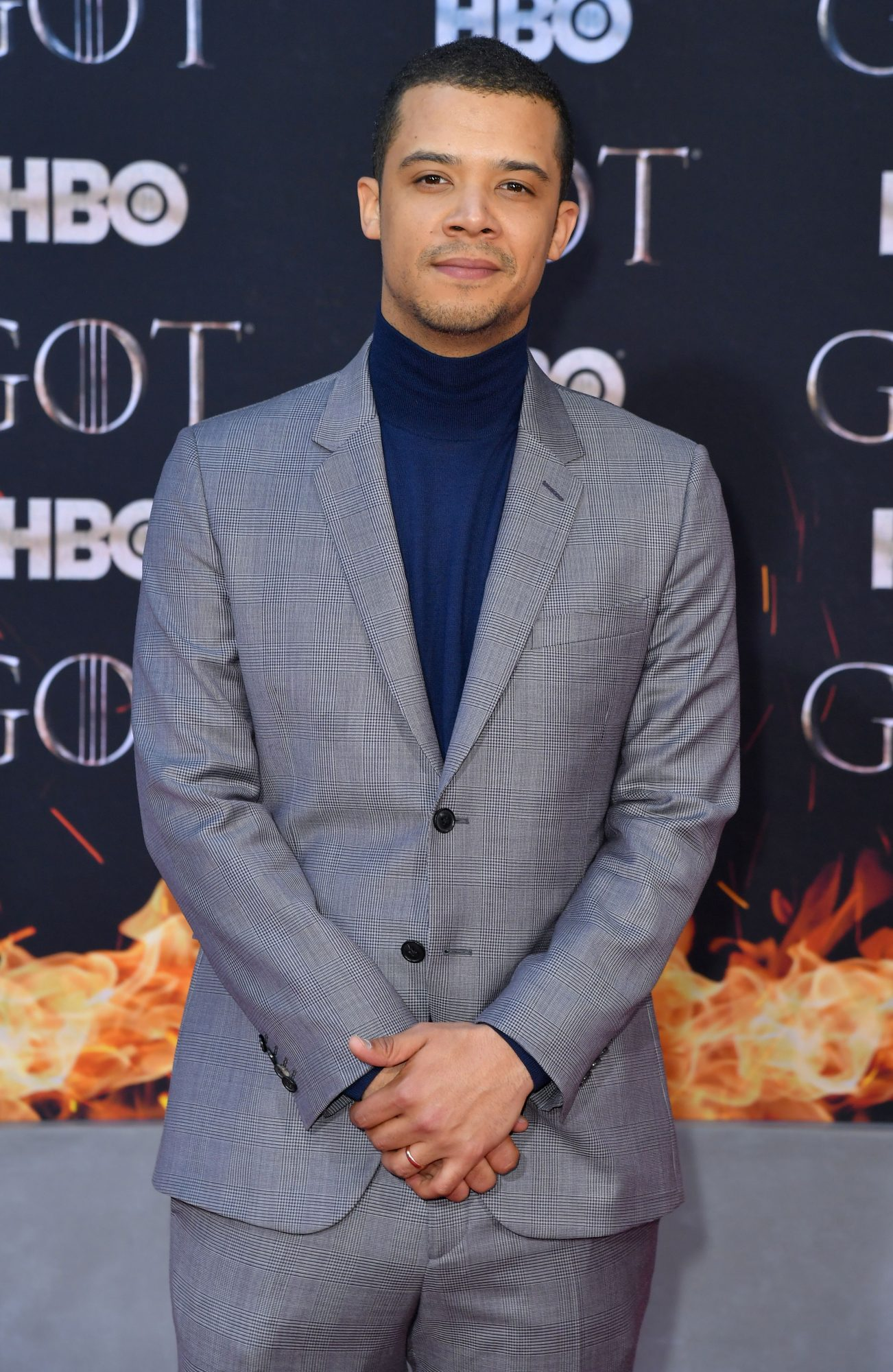 """British actor Jacob Anderson arrives for the """"Game of Thrones"""" eighth and final season premiere at Radio City Music Hall on April 3, 2019 in New York city. (Photo by Angela Weiss / AFP)        (Photo credit should read ANGELA WEISS/AFP/Getty Images)"""