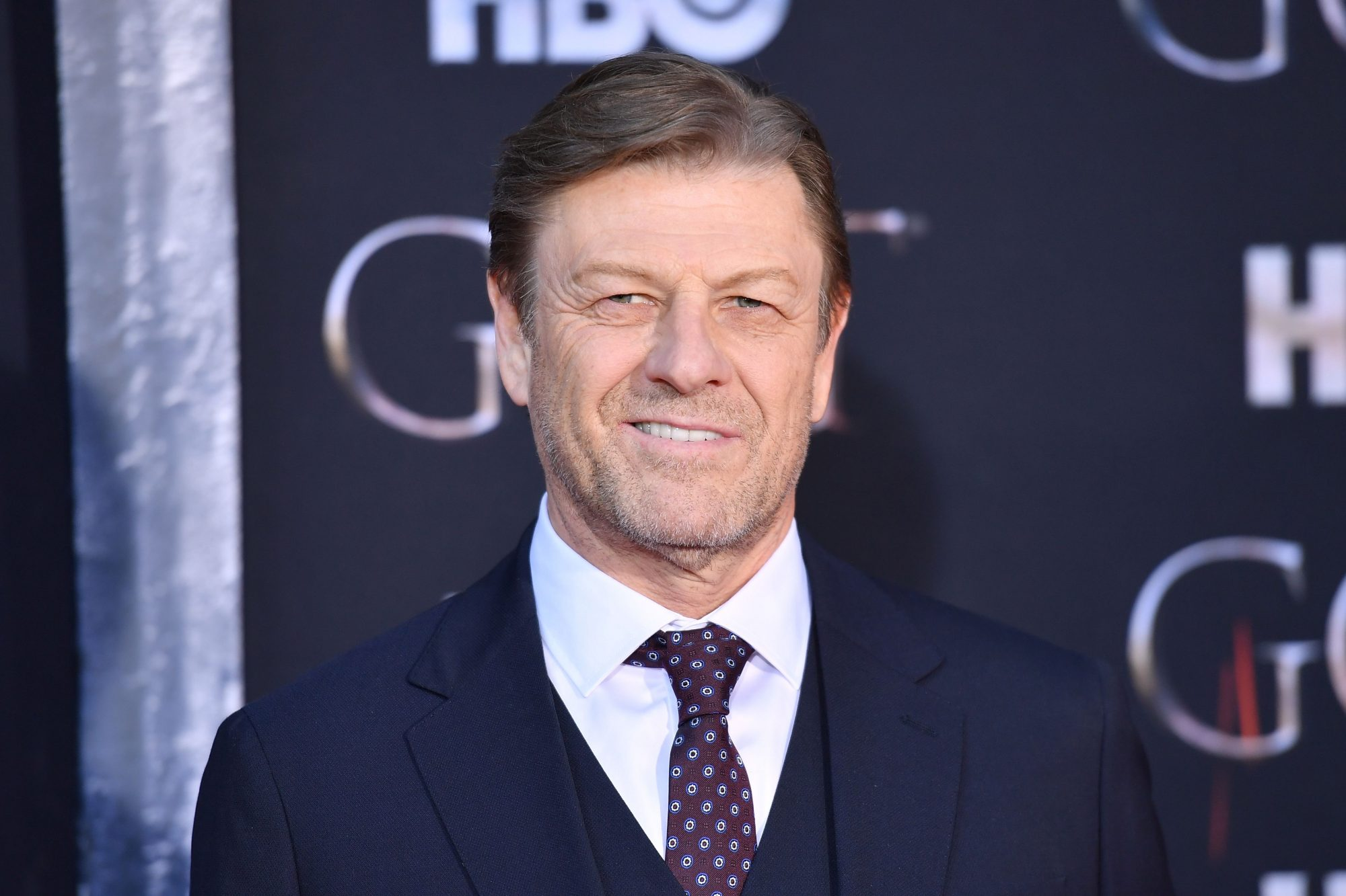 "British actor Sean Bean arrives for the ""Game of Thrones"" eighth and final season premiere at Radio City Music Hall on April 3, 2019 in New York city. (Photo by Angela Weiss / AFP)        (Photo credit should read ANGELA WEISS/AFP/Getty Images)"