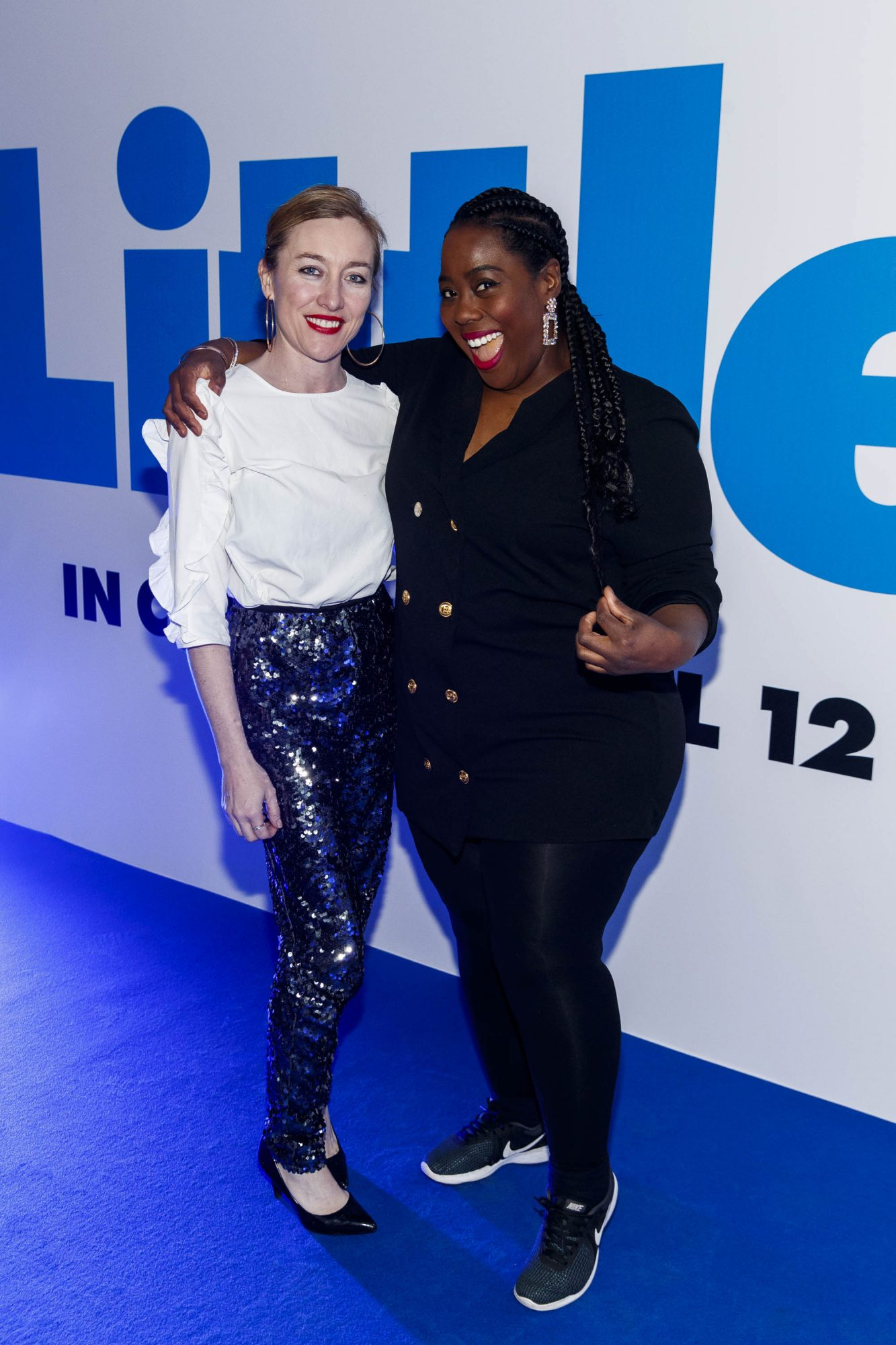 Trudy Hayes and Nadine Reid pictured at a special preview screening of Little at Odeon Point Square, Dublin. Little, starring Girls Trip Regina Hall hits cinemas across Ireland this Friday April 12th. Picture Andres Poveda