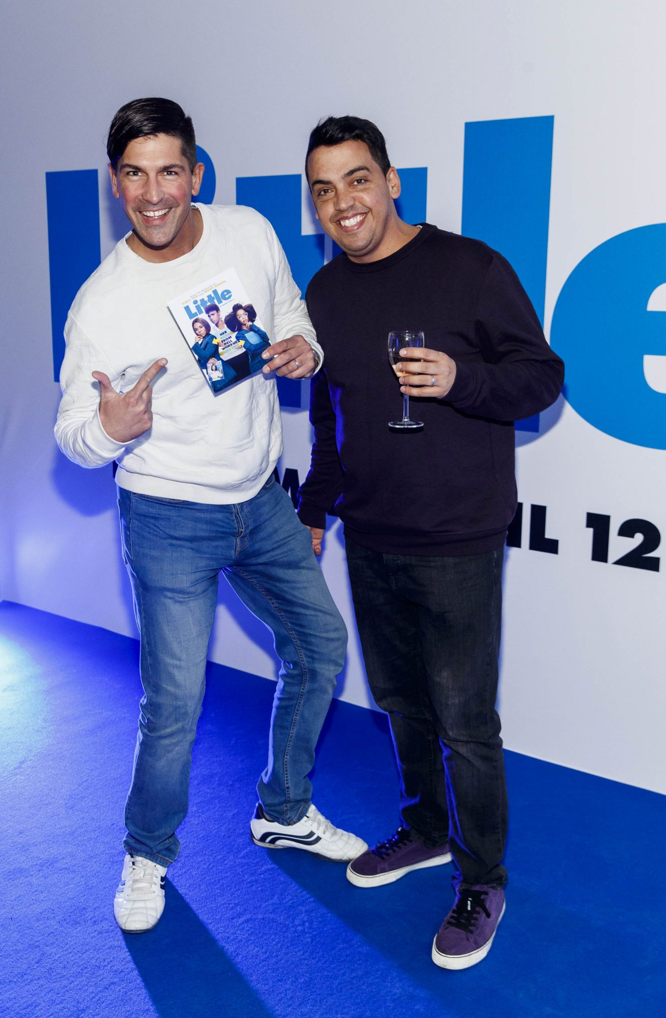 Issac Macias and Antonio Delgado pictured at a special preview screening of Little at Odeon Point Square, Dublin. Little, starring Girls Trip Regina Hall hits cinemas across Ireland this Friday April 12th. Picture Andres Poveda