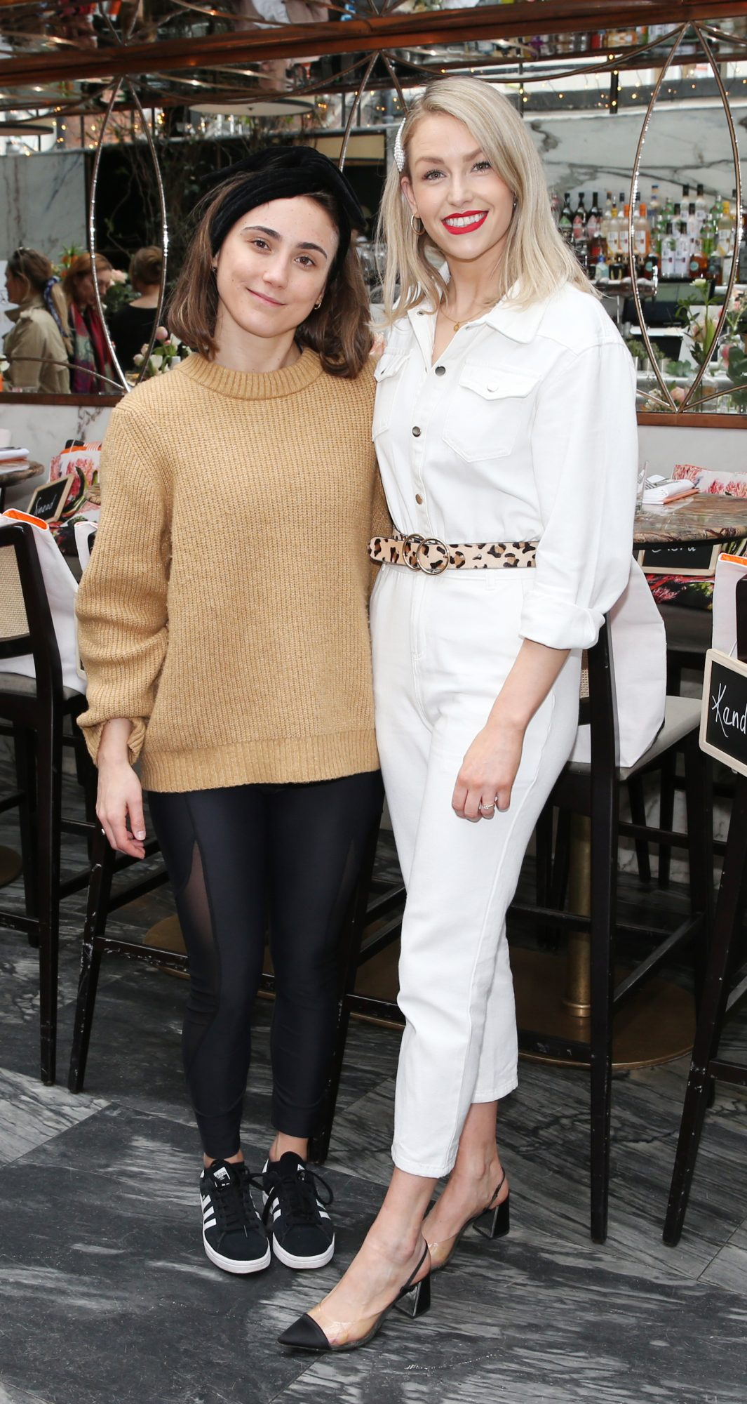 Pictured is Gigi Tynan and Lia Stokes at the launch of the new Avène Expert Suncare Range in The Grayson Dublin. The new range of suncare from the French brand is suitable for all skin types and includes a Sports Sun Cream, a City Shield BB Style High Protection Face Cream, two new SPF Body Sprays and a new Very High Protection Children's SPF. For more information visit www.avene.ie. Photo: Leon Farrell/Photocall Ireland.