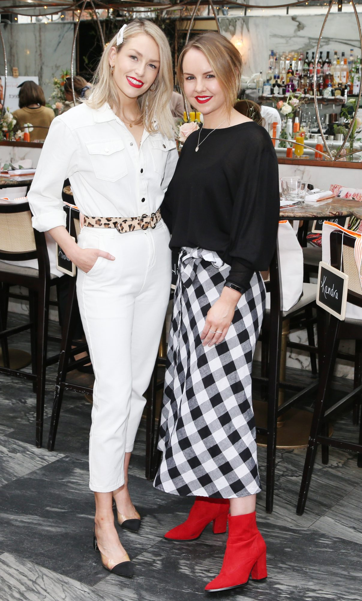 Pictured is Lia Stokes and Katie Allen at the launch of the new Avène Expert Suncare Range in The Grayson Dublin. The new range of suncare from the French brand is suitable for all skin types and includes a Sports Sun Cream, a City Shield BB Style High Protection Face Cream, two new SPF Body Sprays and a new Very High Protection Children's SPF. For more information visit www.avene.ie. Photo: Leon Farrell/Photocall Ireland.