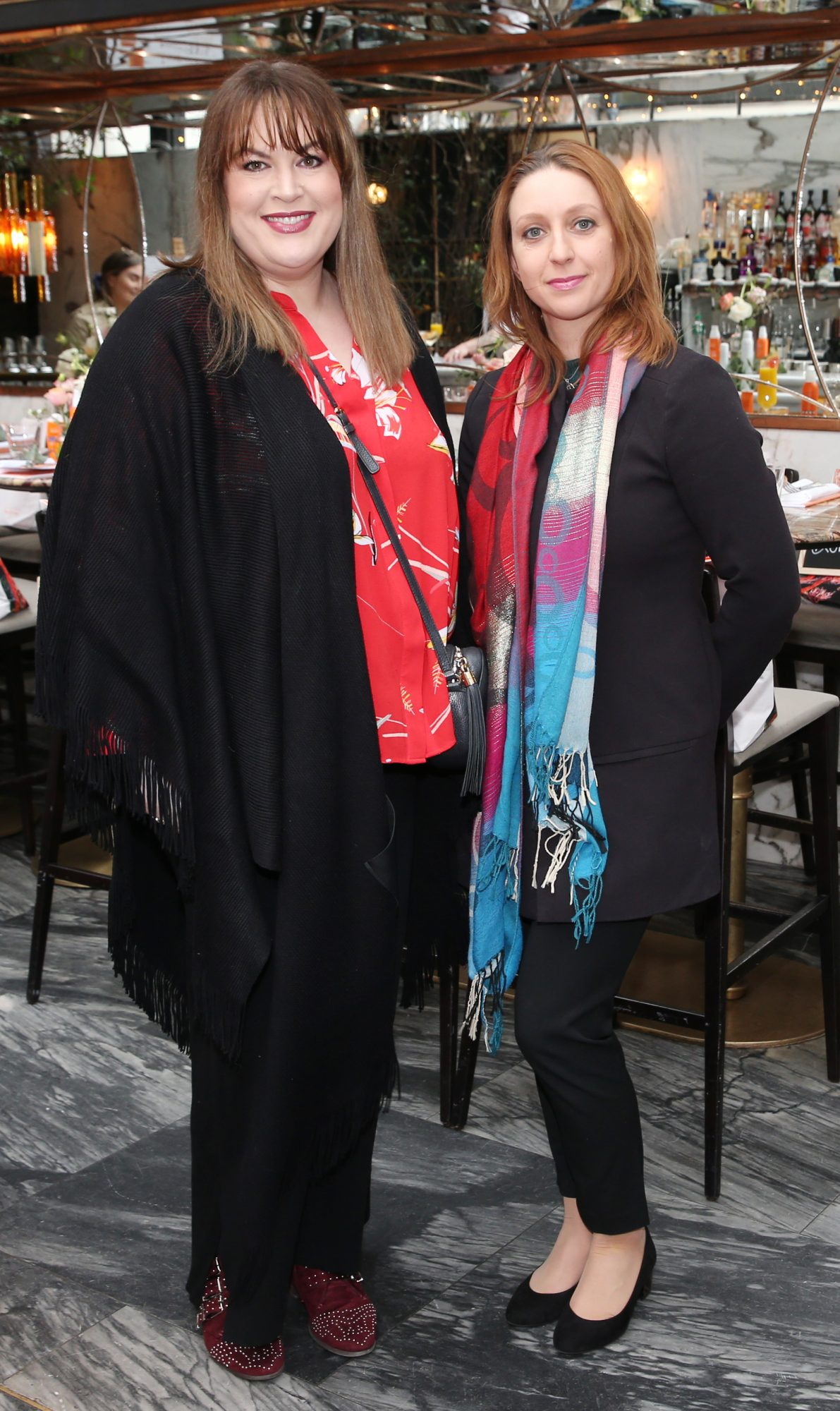 Pictured is Monica McKenna and Dora Orlowska at the launch of the new Avène Expert Suncare Range in The Grayson Dublin. The new range of suncare from the French brand is suitable for all skin types and includes a Sports Sun Cream, a City Shield BB Style High Protection Face Cream, two new SPF Body Sprays and a new Very High Protection Children's SPF. For more information visit www.avene.ie. Photo: Leon Farrell/Photocall Ireland.