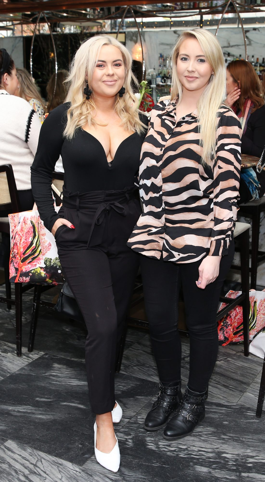 NO REPRO FEE. Pictured is Ali Ryan and Kendra Becker at the launch of the new Avène Expert Suncare Range in The Grayson Dublin. The new range of suncare from the French brand is suitable for all skin types and includes a Sports Sun Cream, a City Shield BB Style High Protection Face Cream, two new SPF Body Sprays and a new Very High Protection Children's SPF. For more information visit www.avene.ie. Photo: Leon Farrell/Photocall Ireland.