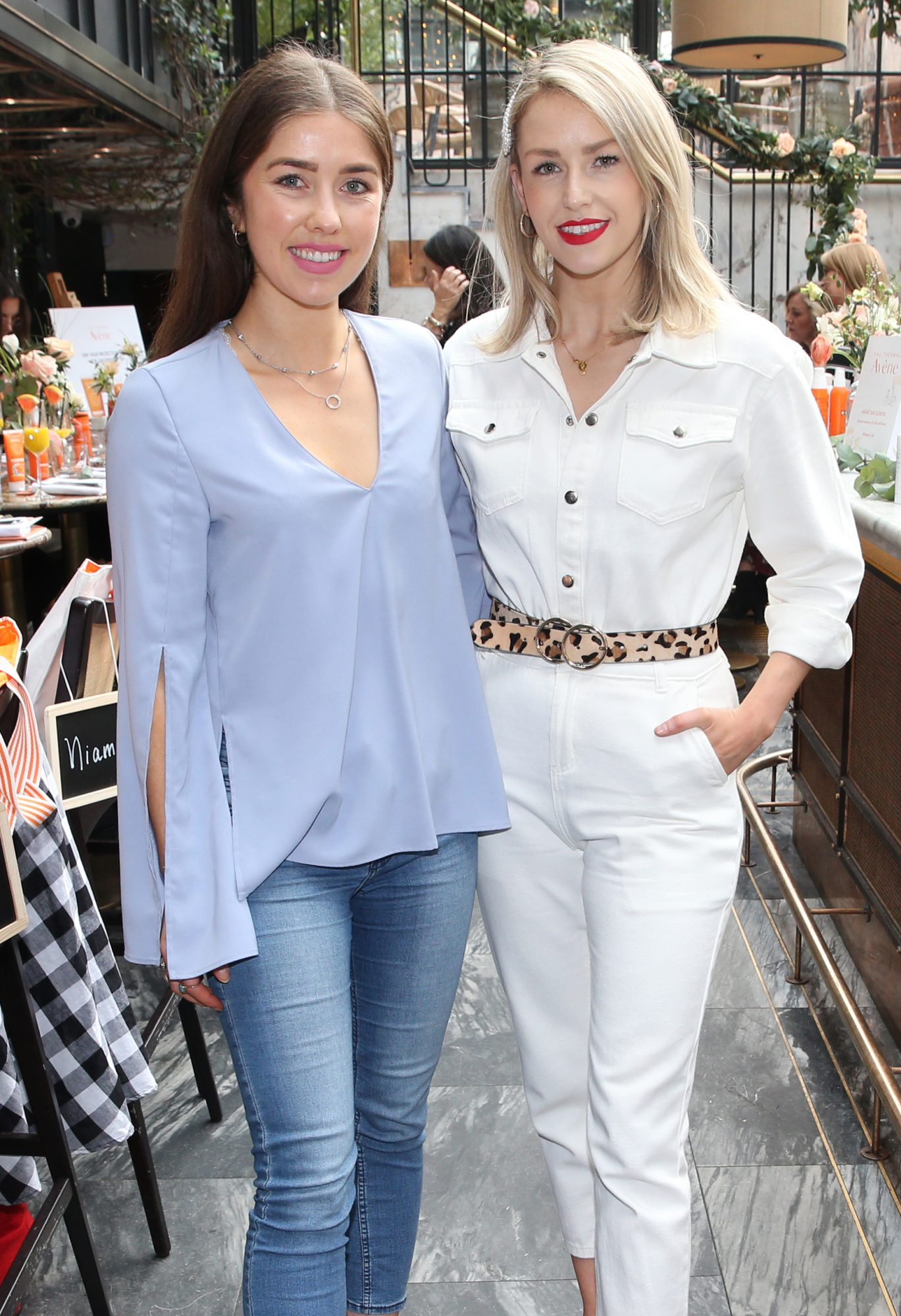 Pictured is Erica Bracken and Lia Stokes at the launch of the new Avène Expert Suncare Range in The Grayson Dublin. The new range of suncare from the French brand is suitable for all skin types and includes a Sports Sun Cream, a City Shield BB Style High Protection Face Cream, two new SPF Body Sprays and a new Very High Protection Children's SPF. For more information visit www.avene.ie. Photo: Leon Farrell/Photocall Ireland.