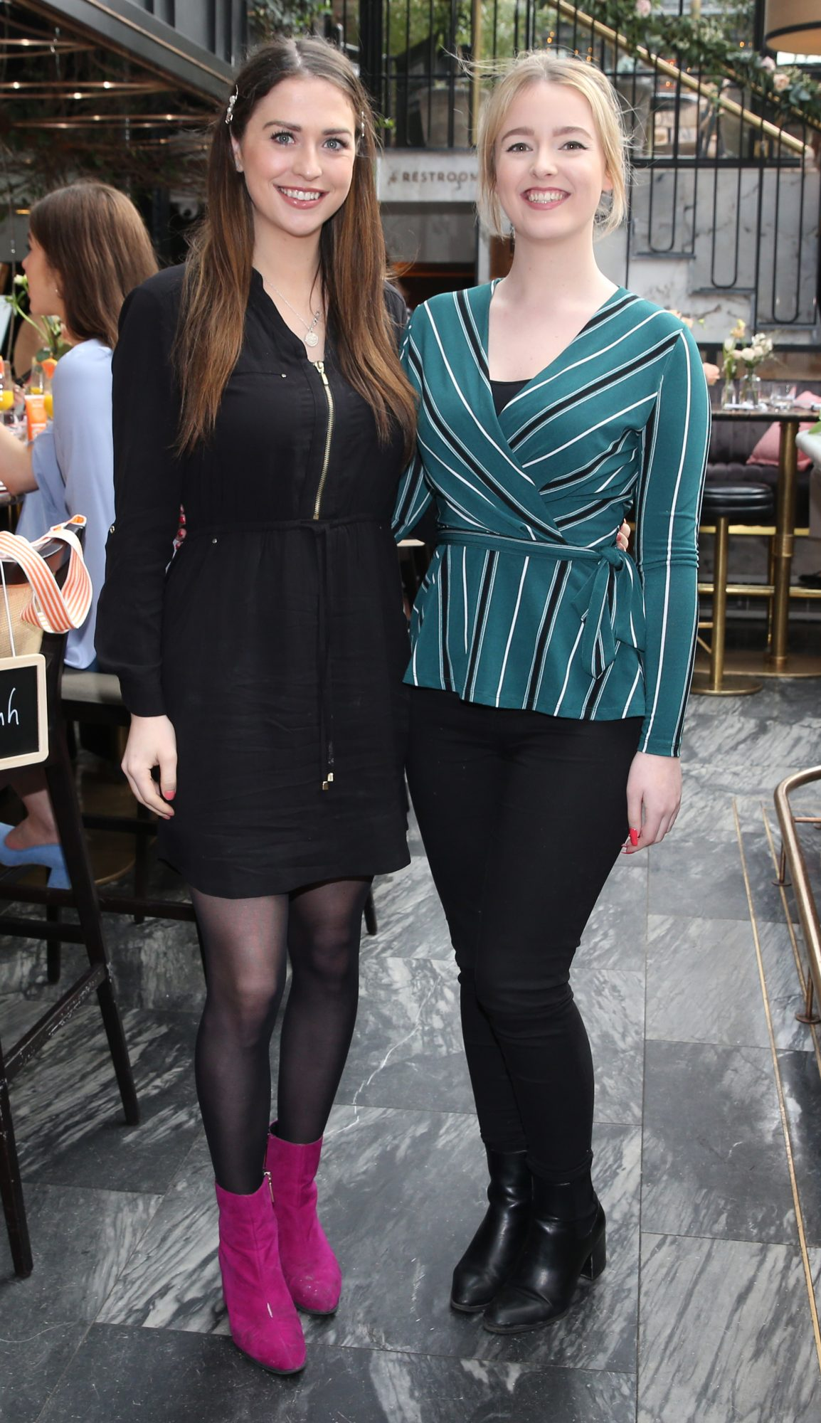 Pictured is Cara Crooke and Niamh Devereux at the launch of the new Avène Expert Suncare Range in The Grayson Dublin. The new range of suncare from the French brand is suitable for all skin types and includes a Sports Sun Cream, a City Shield BB Style High Protection Face Cream, two new SPF Body Sprays and a new Very High Protection Children's SPF. For more information visit www.avene.ie. Photo: Leon Farrell/Photocall Ireland.