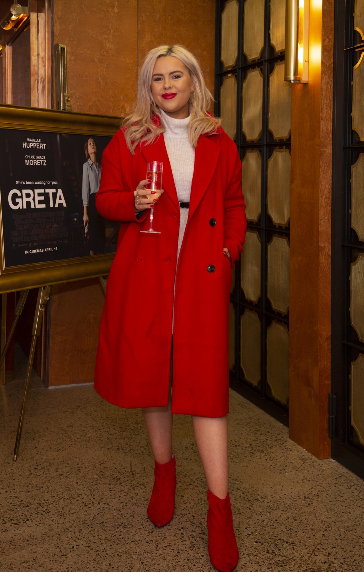 Ali Ryan pictured at a special preview screening of GRETA at The Stella Theatre, Ranelagh. GRETA, directed by Academy Award®-winner Neil Jordan and starring Chloë Grace Moretz and Isabelle Huppert, hits cinemas across Ireland this Thursday 18th April. Photo: Anthony Woods