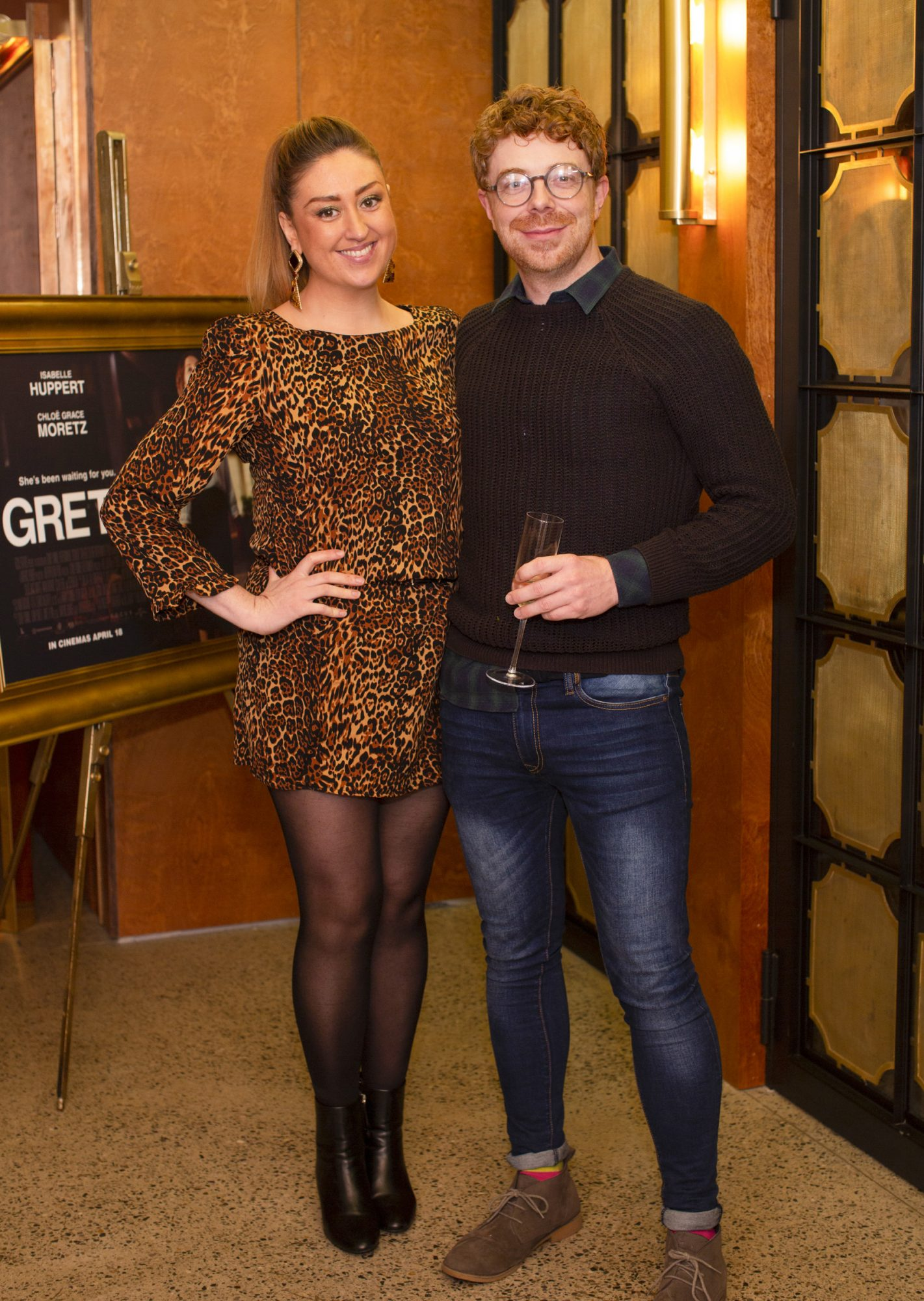 Linda Burke & John O'Malley pictured at a special preview screening of GRETA at The Stella Theatre, Ranelagh. GRETA, directed by Academy Award®-winner Neil Jordan and starring Chloë Grace Moretz and Isabelle Huppert, hits cinemas across Ireland this Thursday 18th April. Photo: Anthony Woods